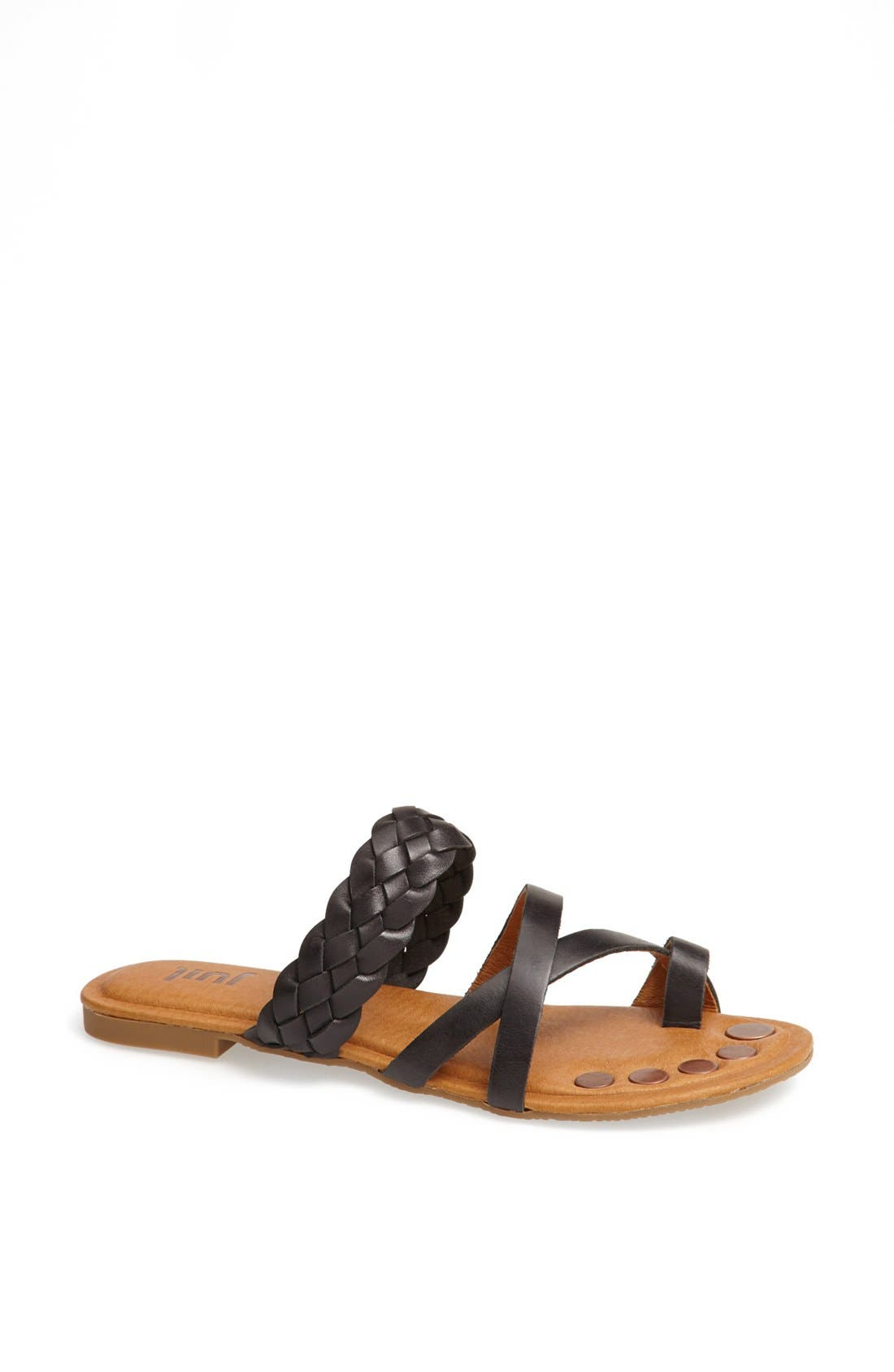 'Santi' Leather Sandal, Main, color, 010