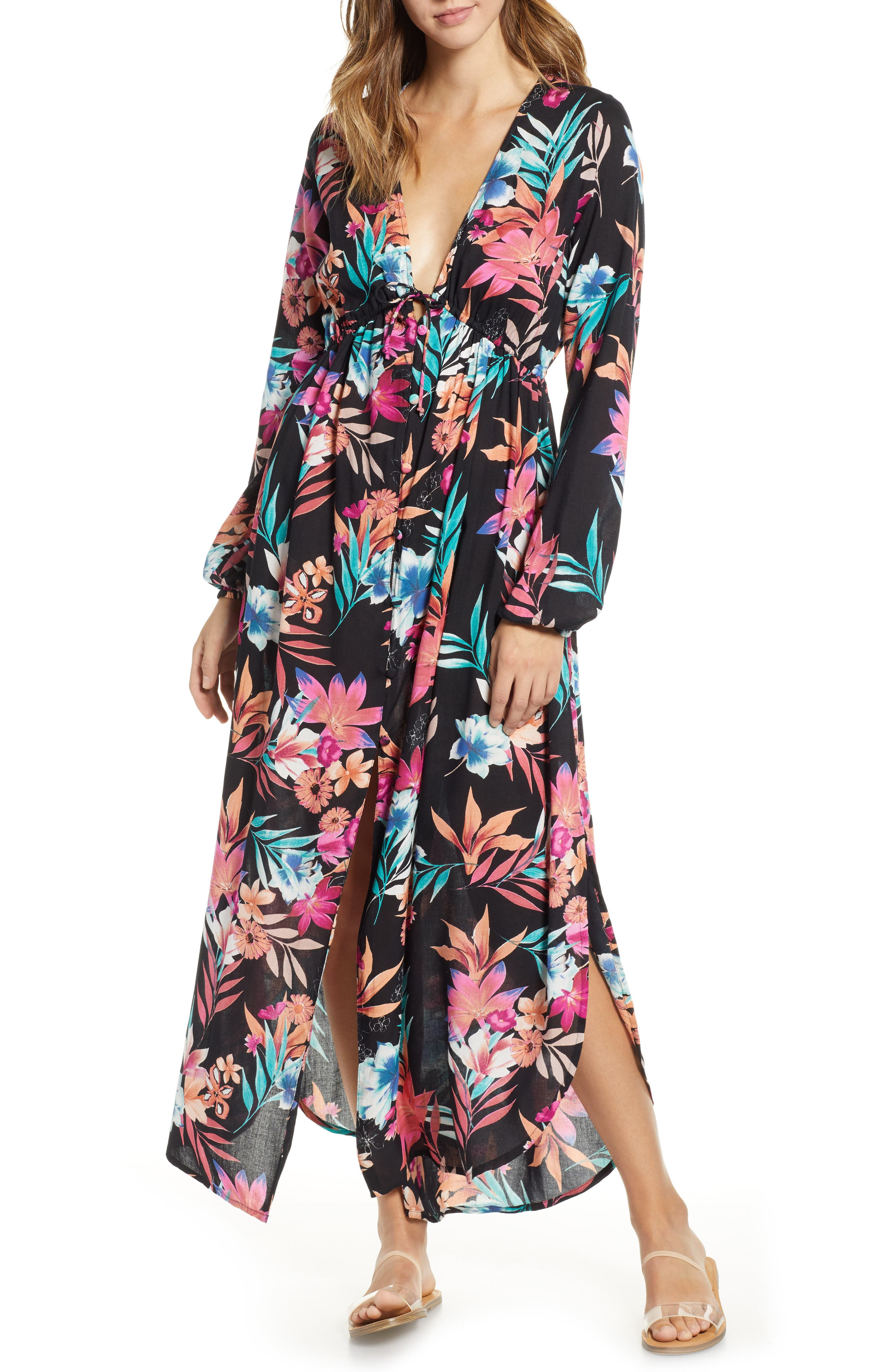 Rip Curl Sundrenched Maxi Dress, Black