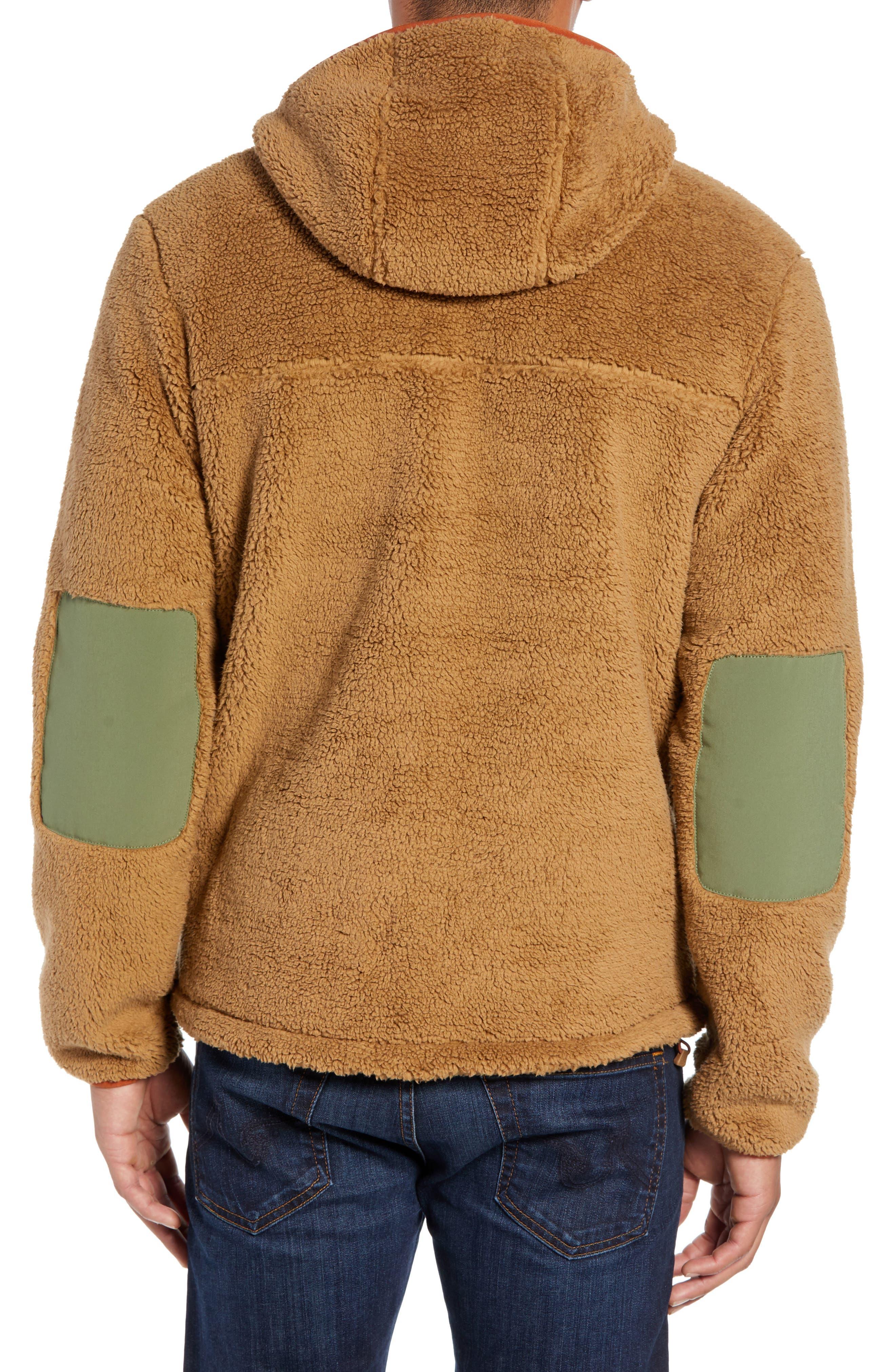 THE NORTH FACE,                             Campshire Anorak Fleece Jacket,                             Alternate thumbnail 2, color,                             CARGO KHAKI/ FOUR LEAF CLOVER