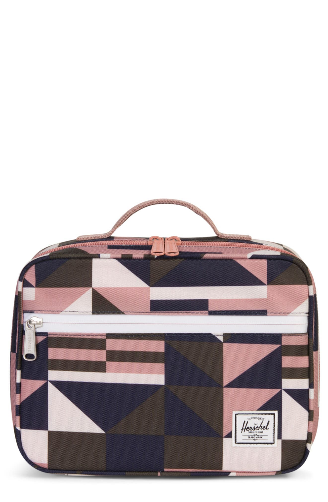 Pop Quiz Lunch Box,                         Main,                         color, FRONT GEO/ASHROSE