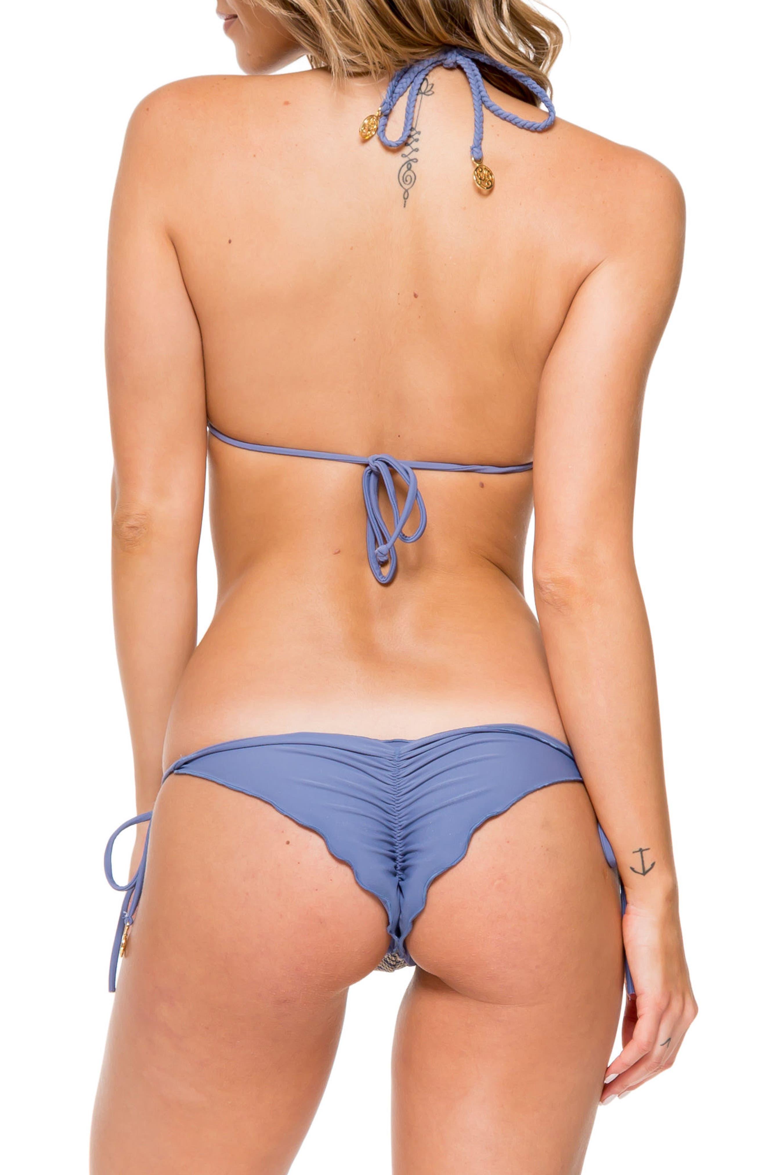 Crochet Triangle Bikini Top,                             Alternate thumbnail 5, color,                             460