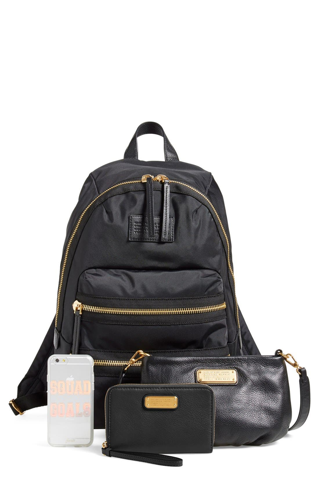MARC BY MARC JACOBS 'Domo Arigato Packrat' Backpack,                             Alternate thumbnail 3, color,                             001