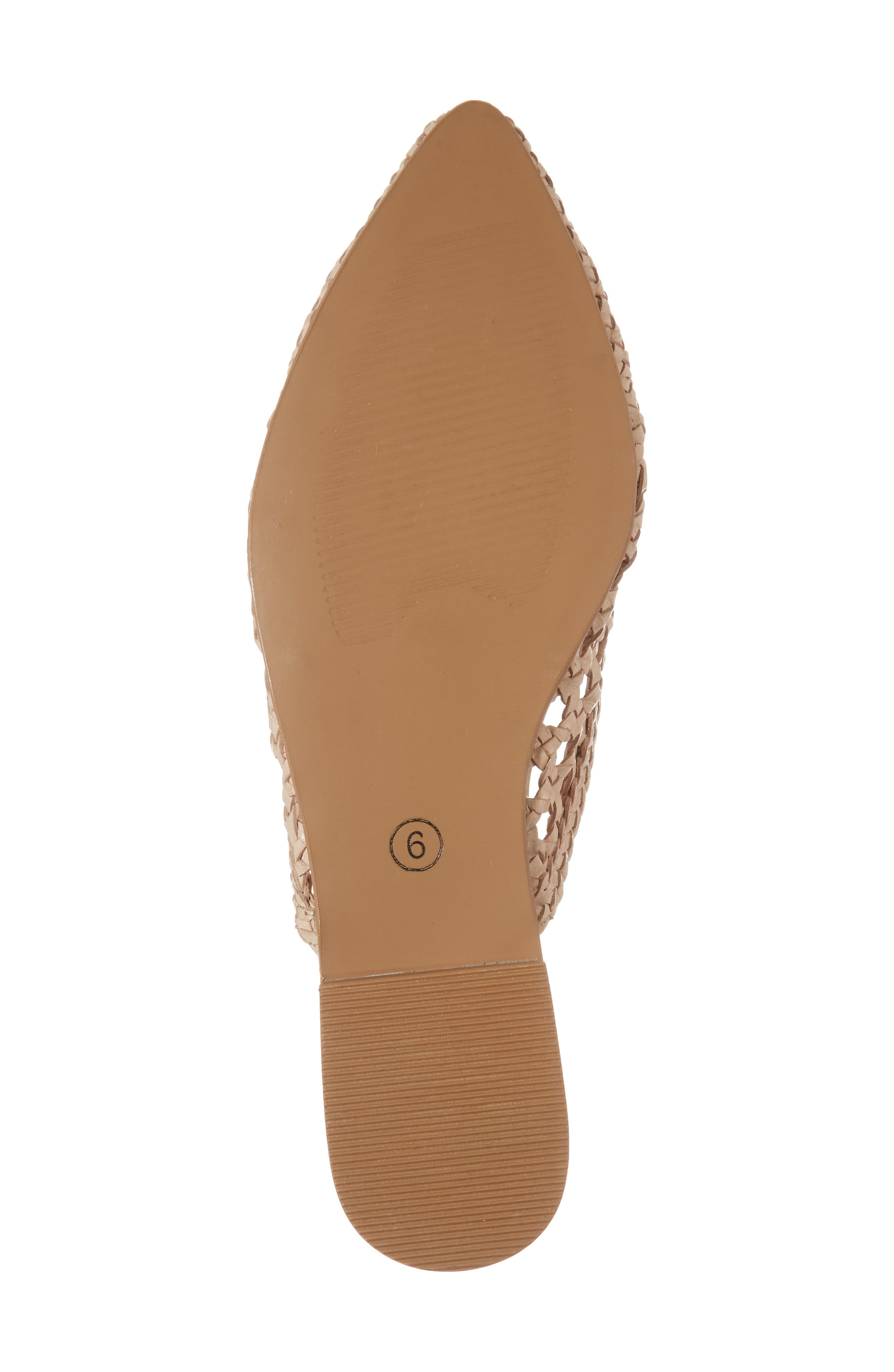 Camille Mule,                             Alternate thumbnail 6, color,                             NATURAL LEATHER