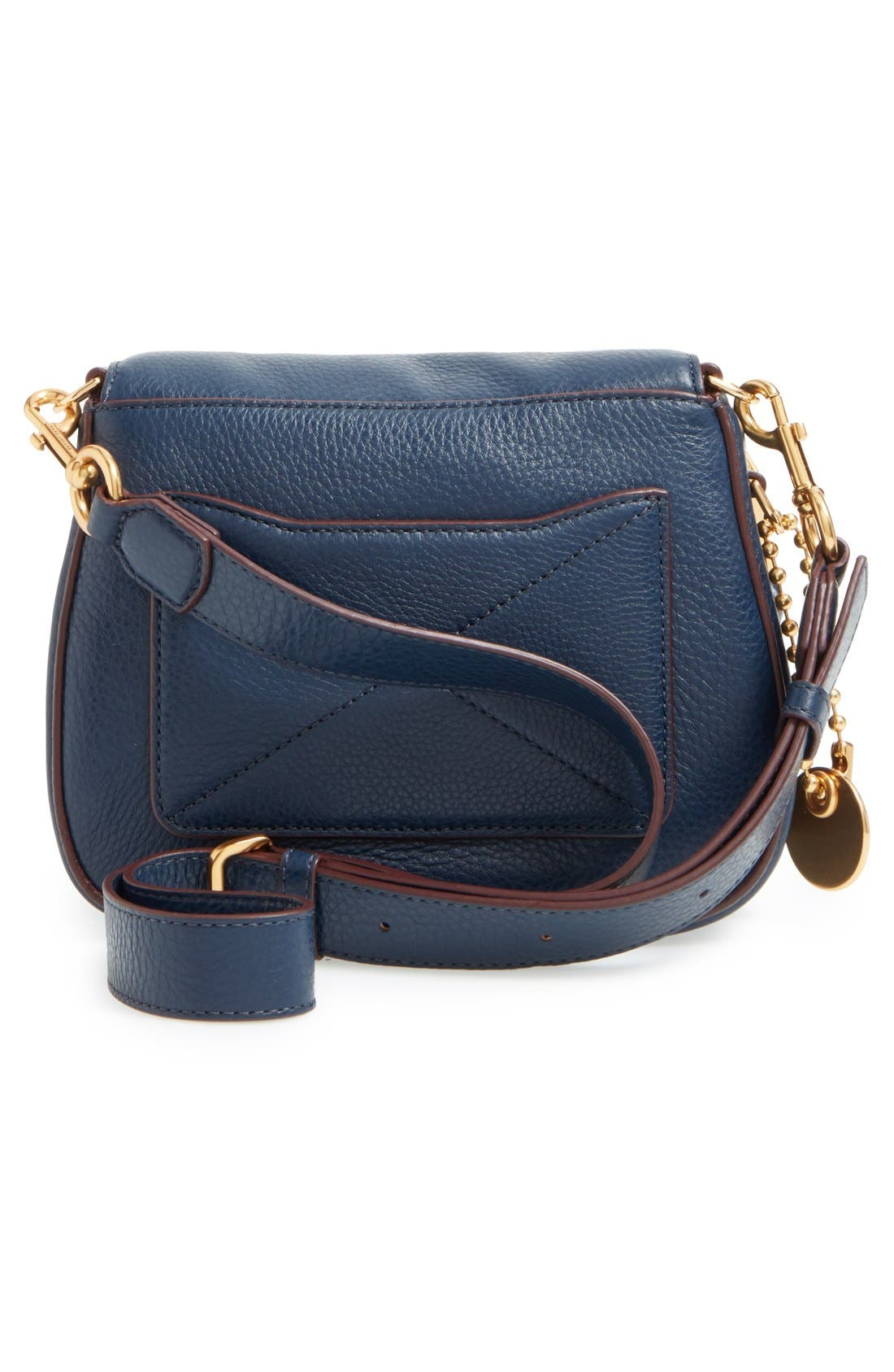 Small Recruit Nomad Pebbled Leather Crossbody Bag,                             Alternate thumbnail 35, color,