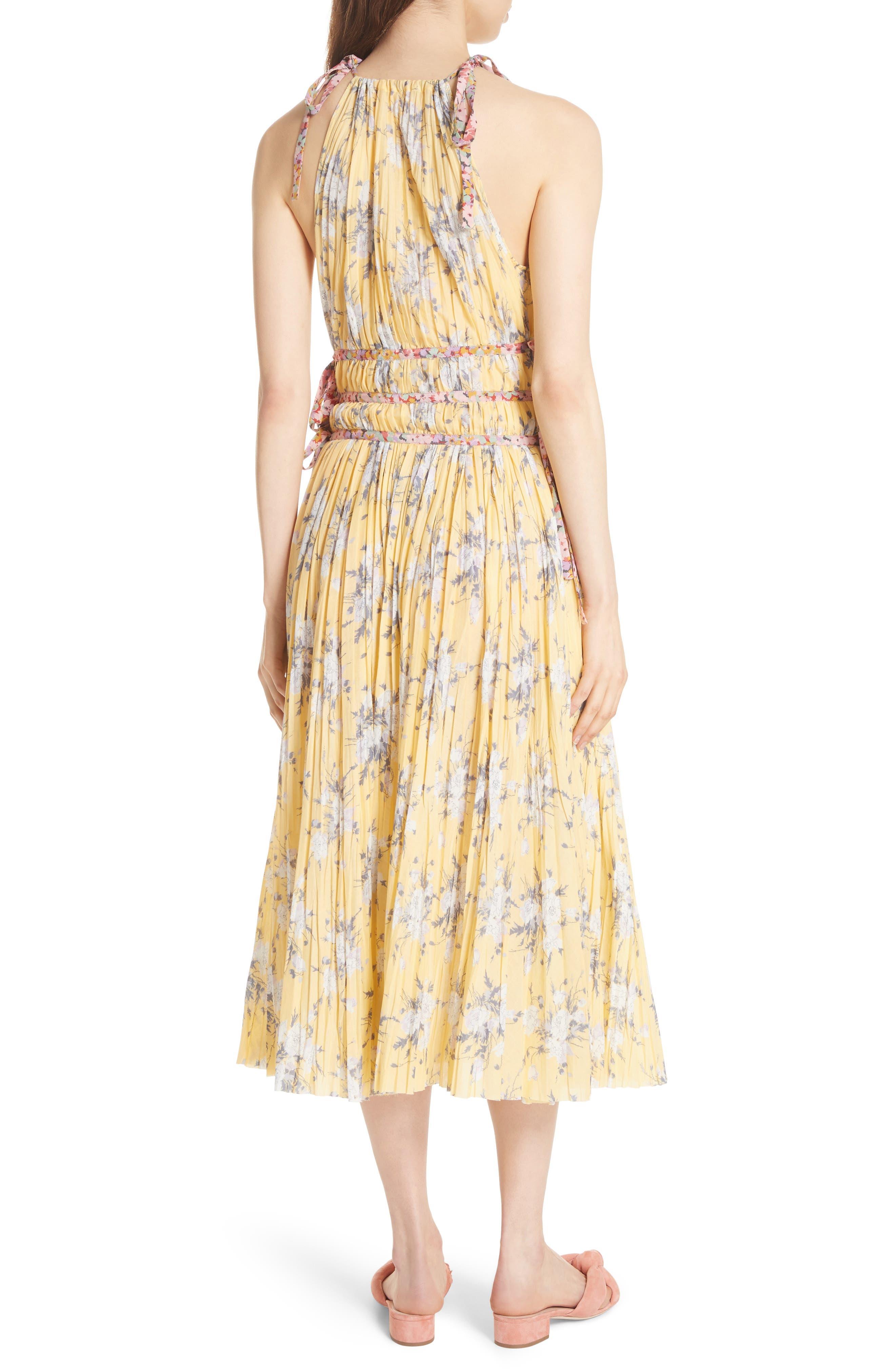 Pleat Midi Dress,                             Alternate thumbnail 2, color,