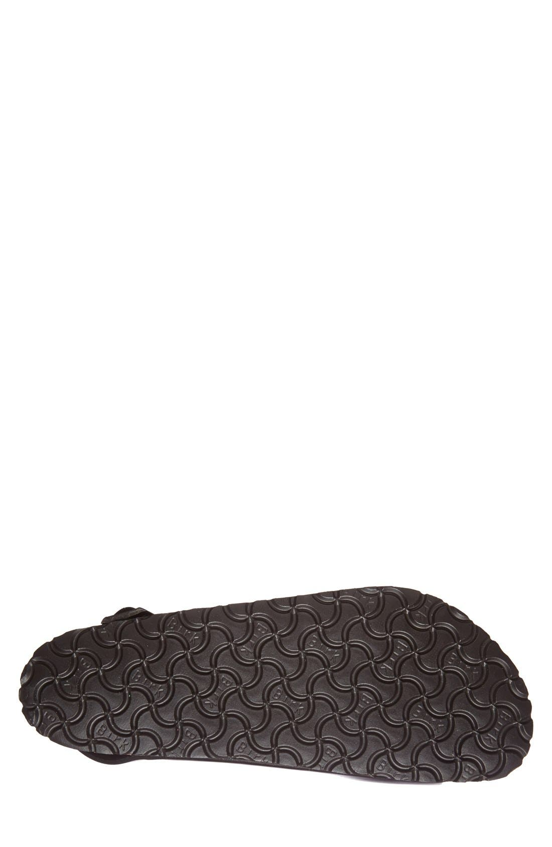 'Milano' Soft Footbed Sandal,                             Alternate thumbnail 3, color,                             AMALFI BLACK