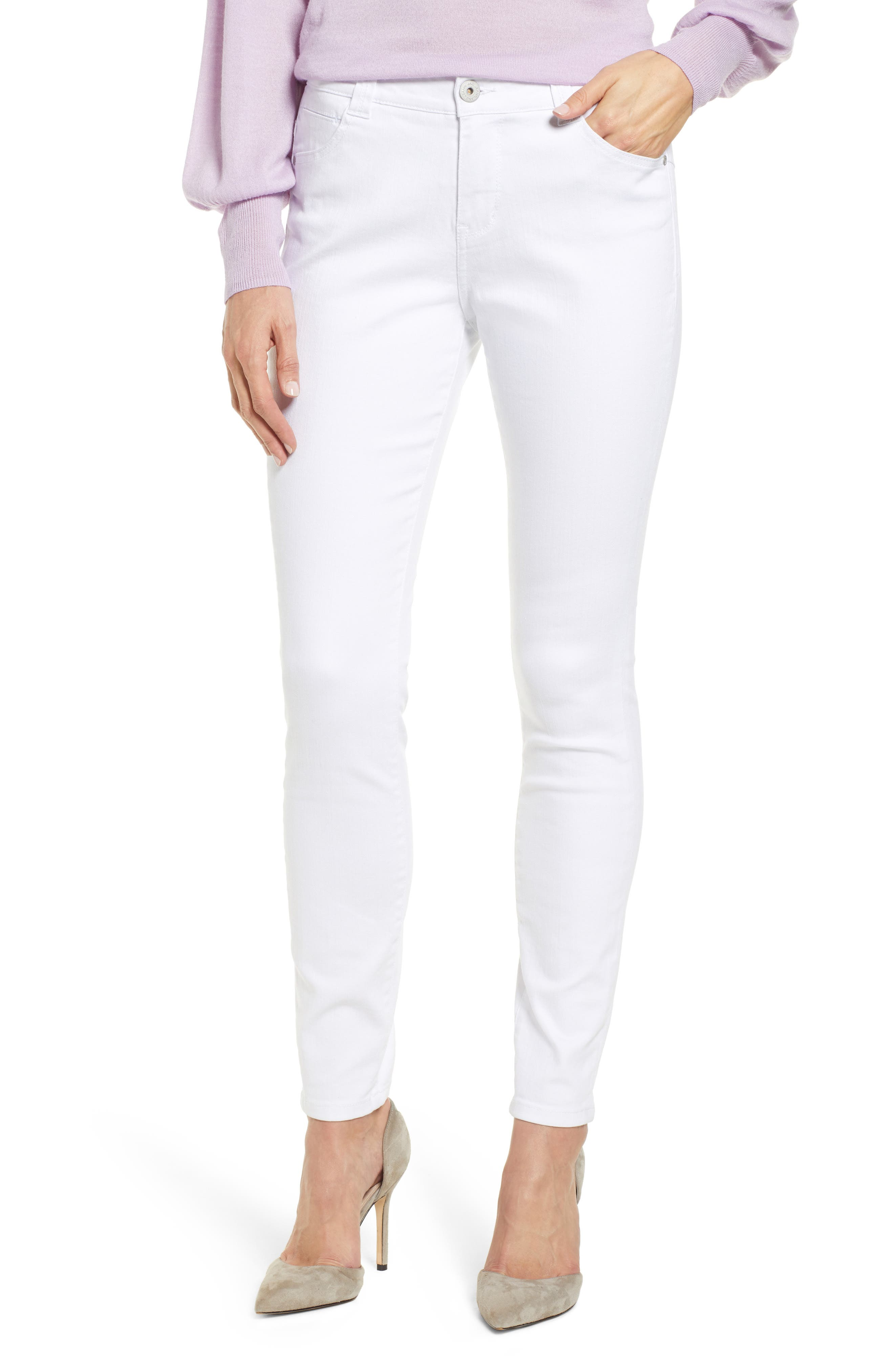 Cecilia High Waist Skinny Jeans in White
