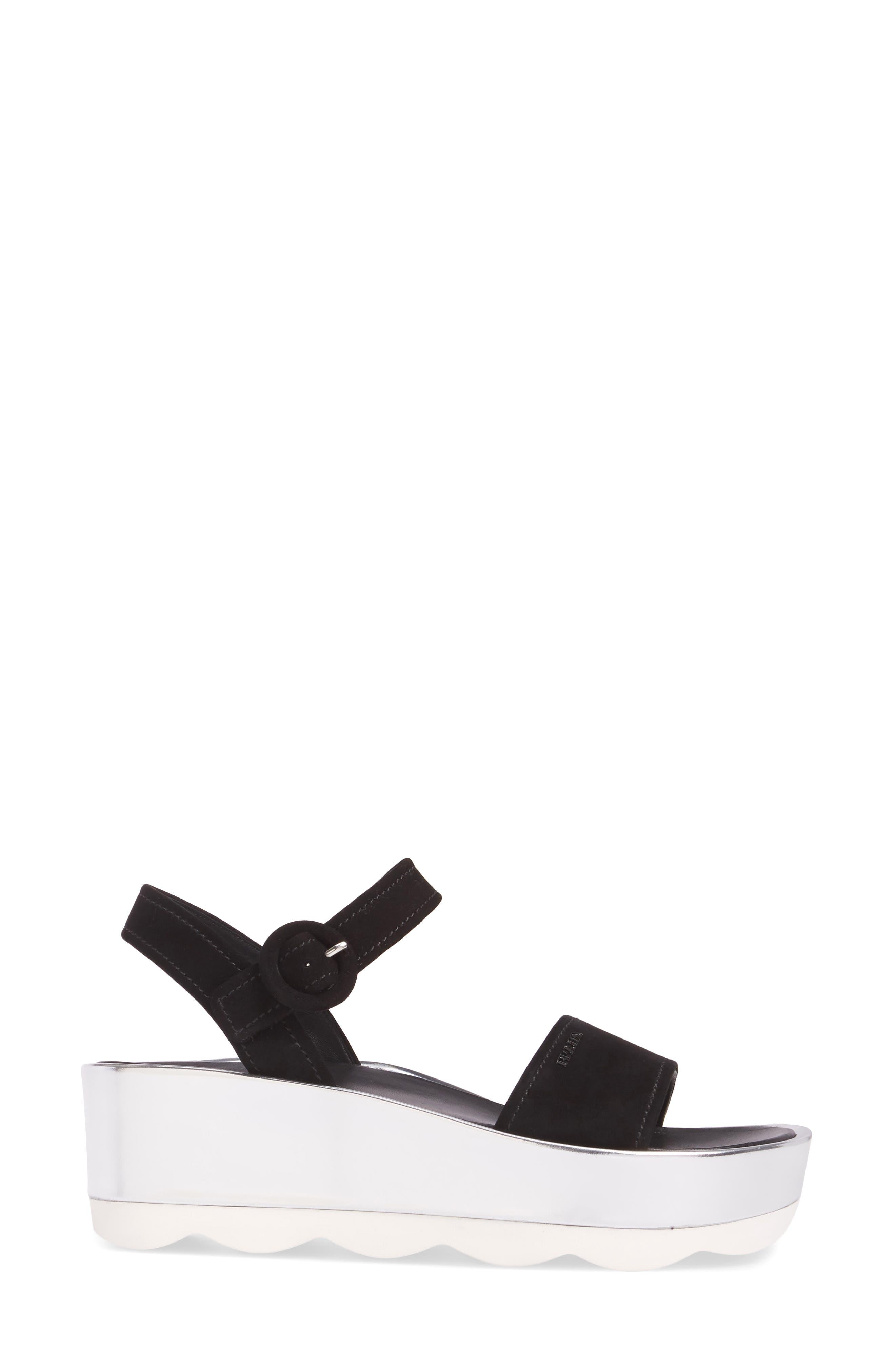Platform Sandal,                             Alternate thumbnail 3, color,                             001