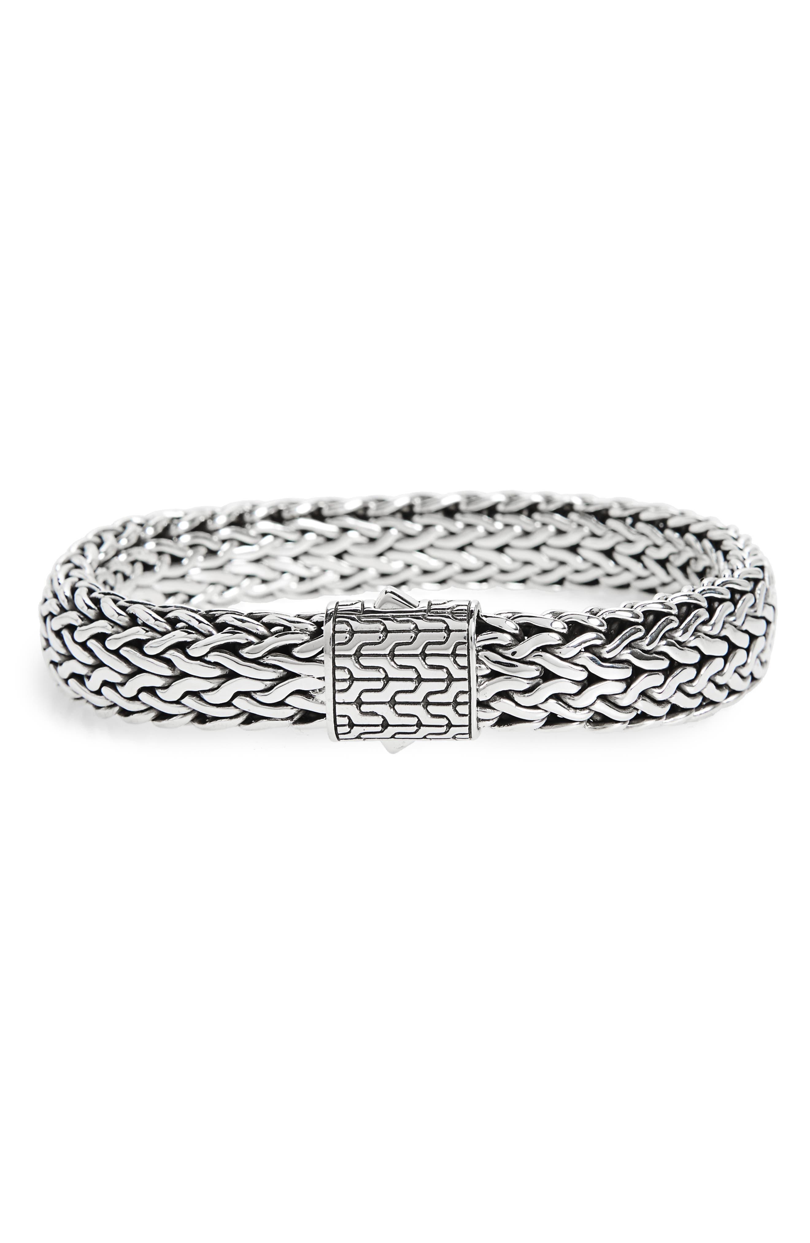 Classic Chain Large Flat Chain Bracelet,                             Main thumbnail 1, color,                             SILVER