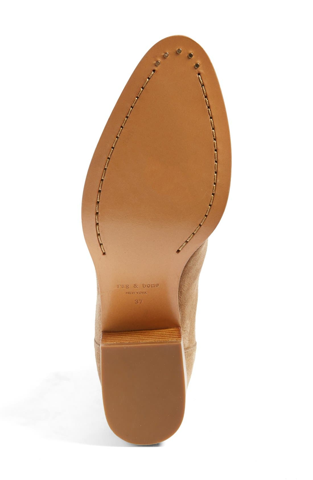 'Walker' Bootie,                             Alternate thumbnail 3, color,                             CAMEL SUEDE