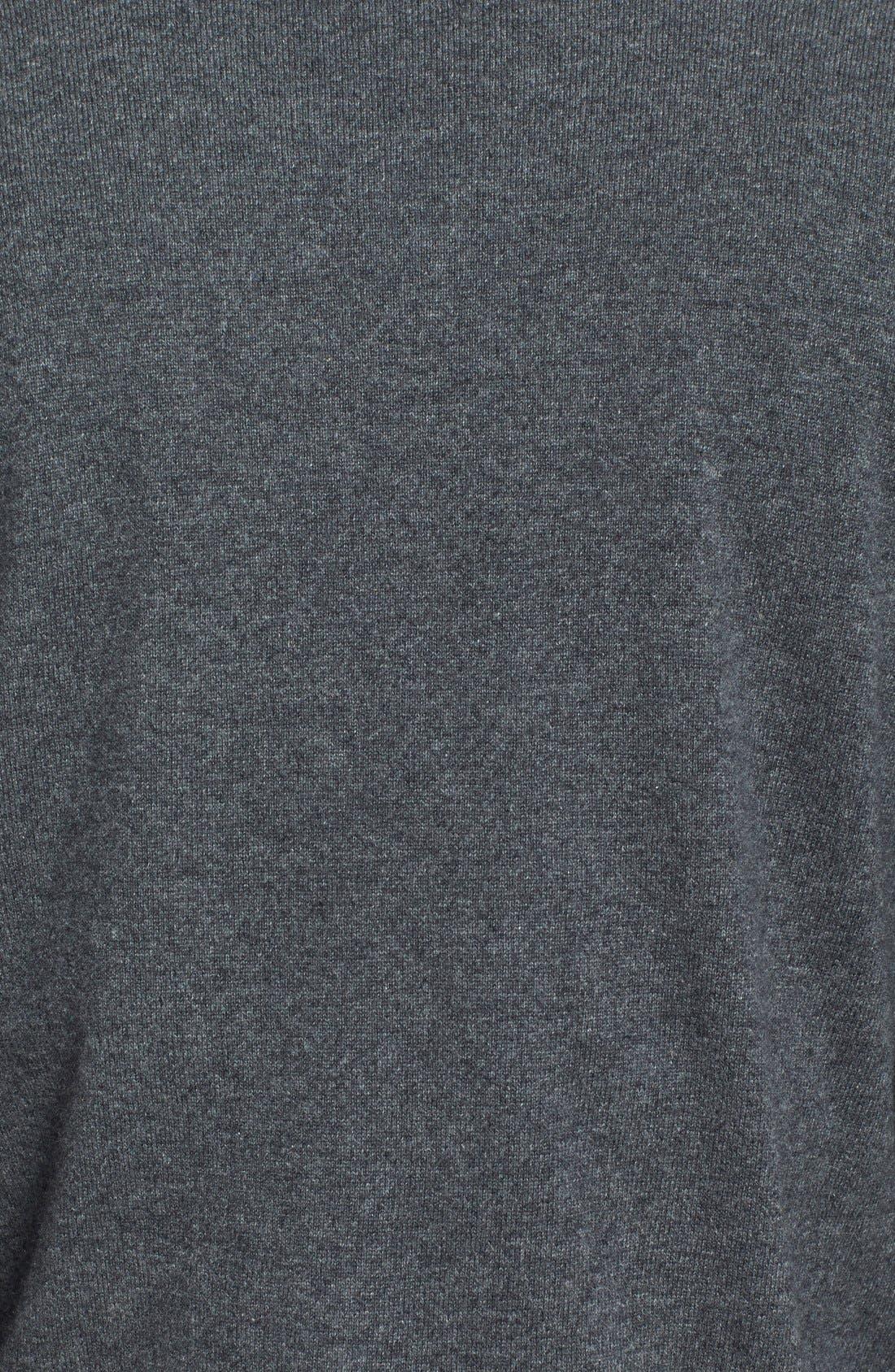 Cashmere V-Neck Sweater,                             Alternate thumbnail 3, color,                             022