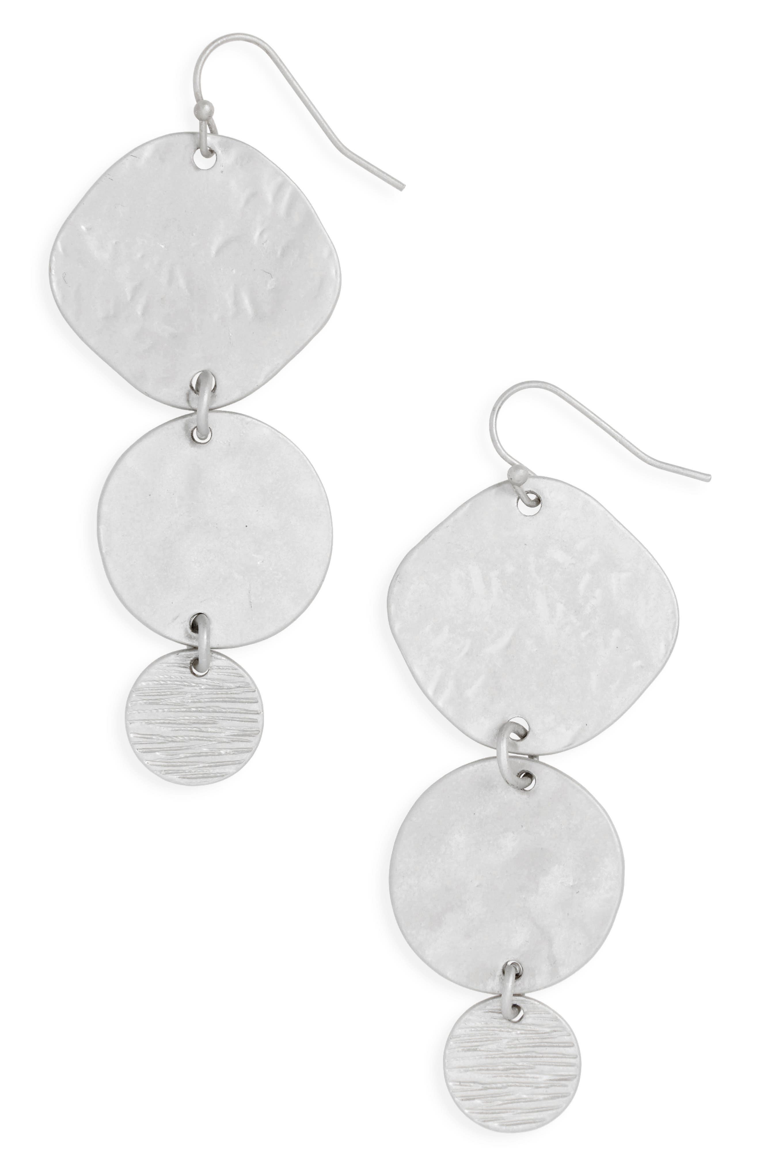 Textured Disc Earrings,                         Main,                         color, 040