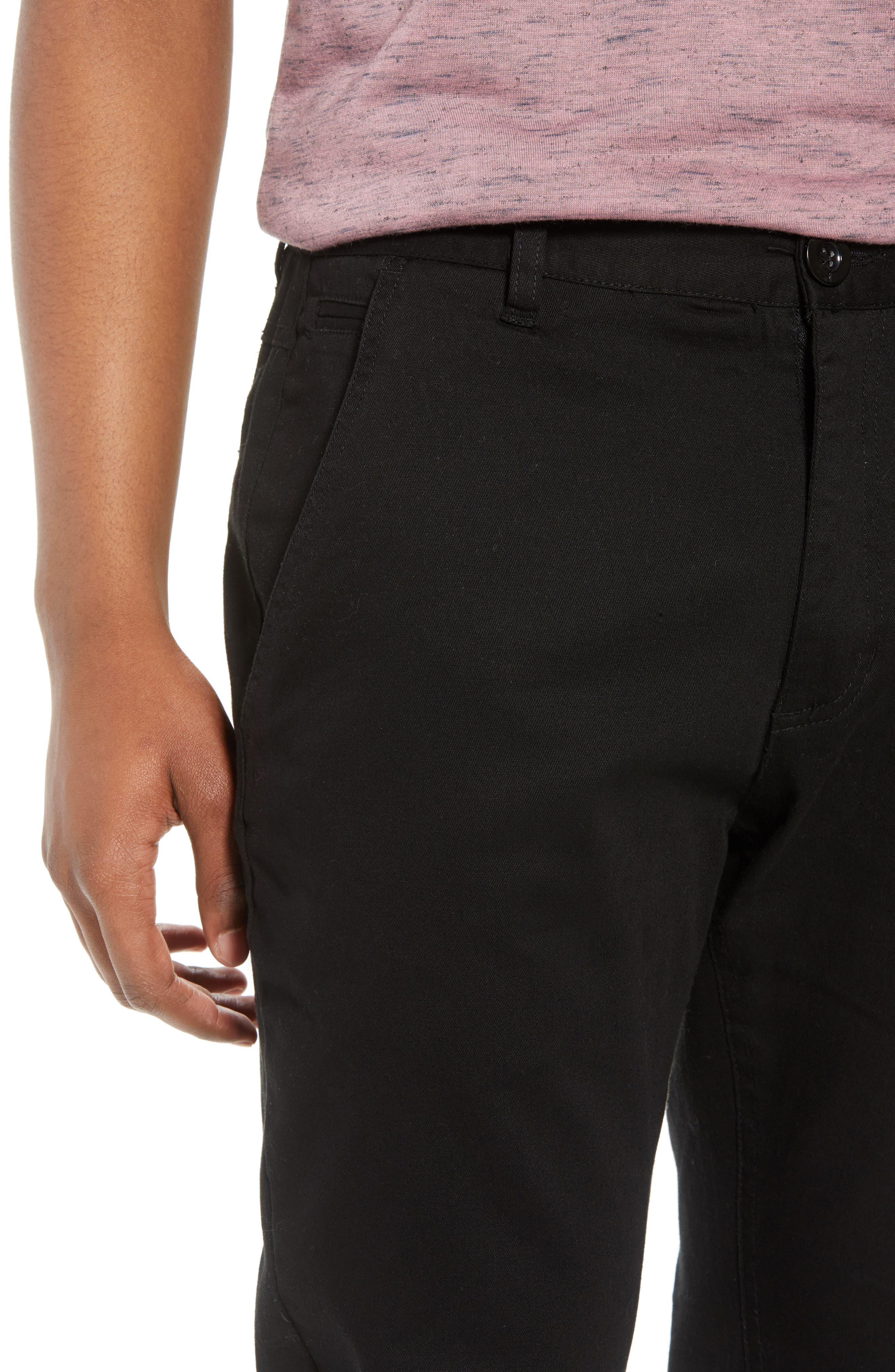 Crossroad Slim Fit Pants,                             Alternate thumbnail 4, color,                             BLACK