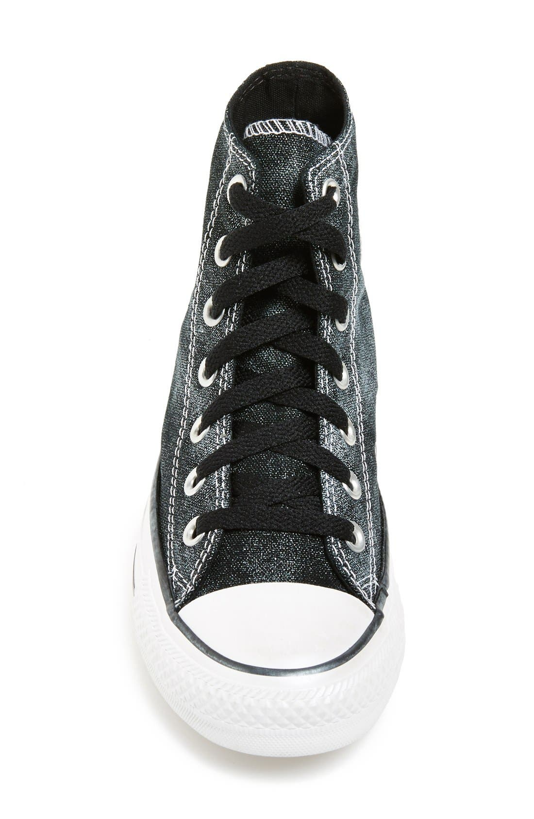 Chuck Taylor<sup>®</sup> All Star<sup>®</sup> 'Sparkle Wash' High Top Sneaker,                             Alternate thumbnail 2, color,                             001