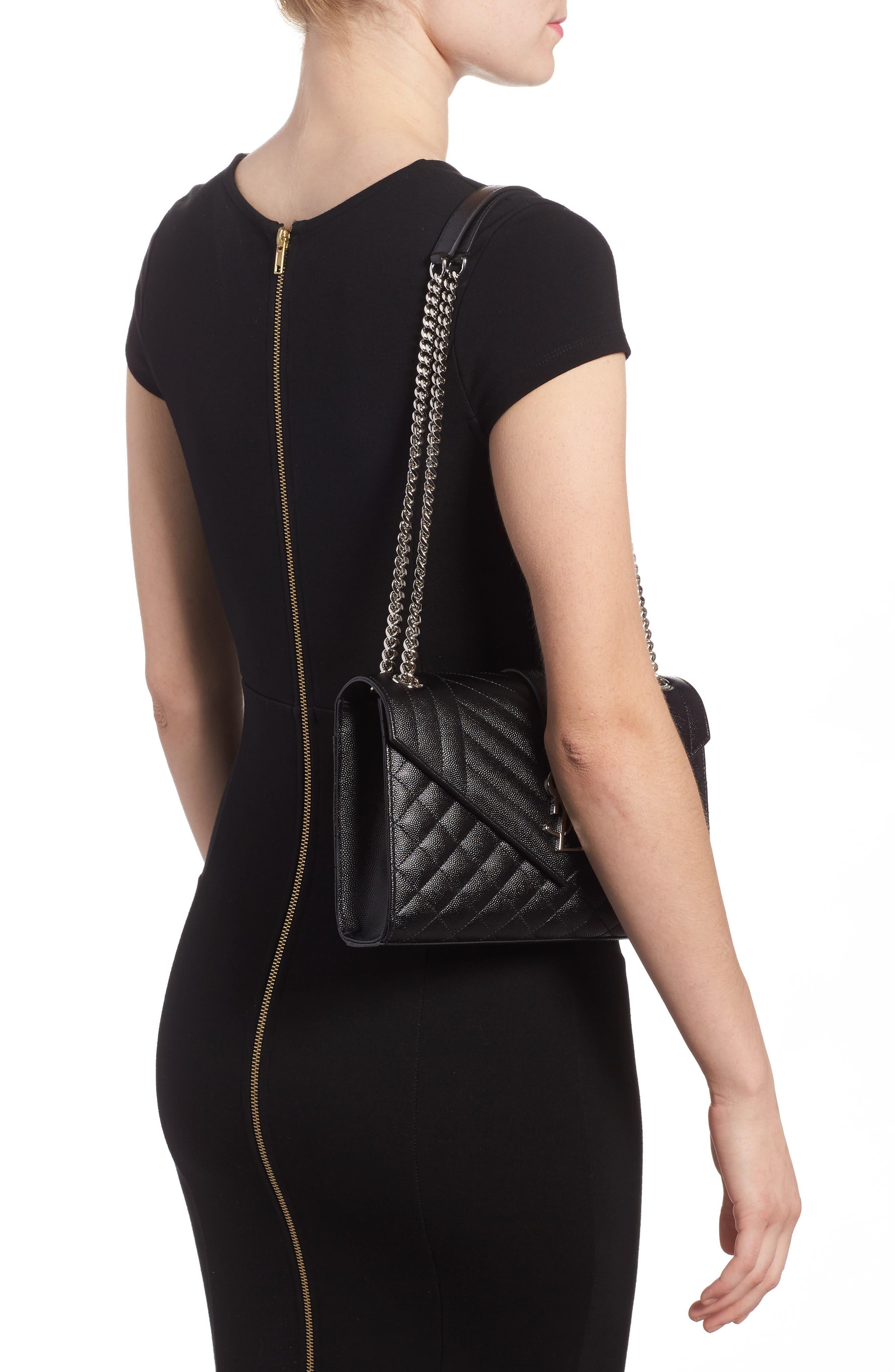 Medium Cassandra Calfskin Shoulder Bag,                             Alternate thumbnail 2, color,                             001