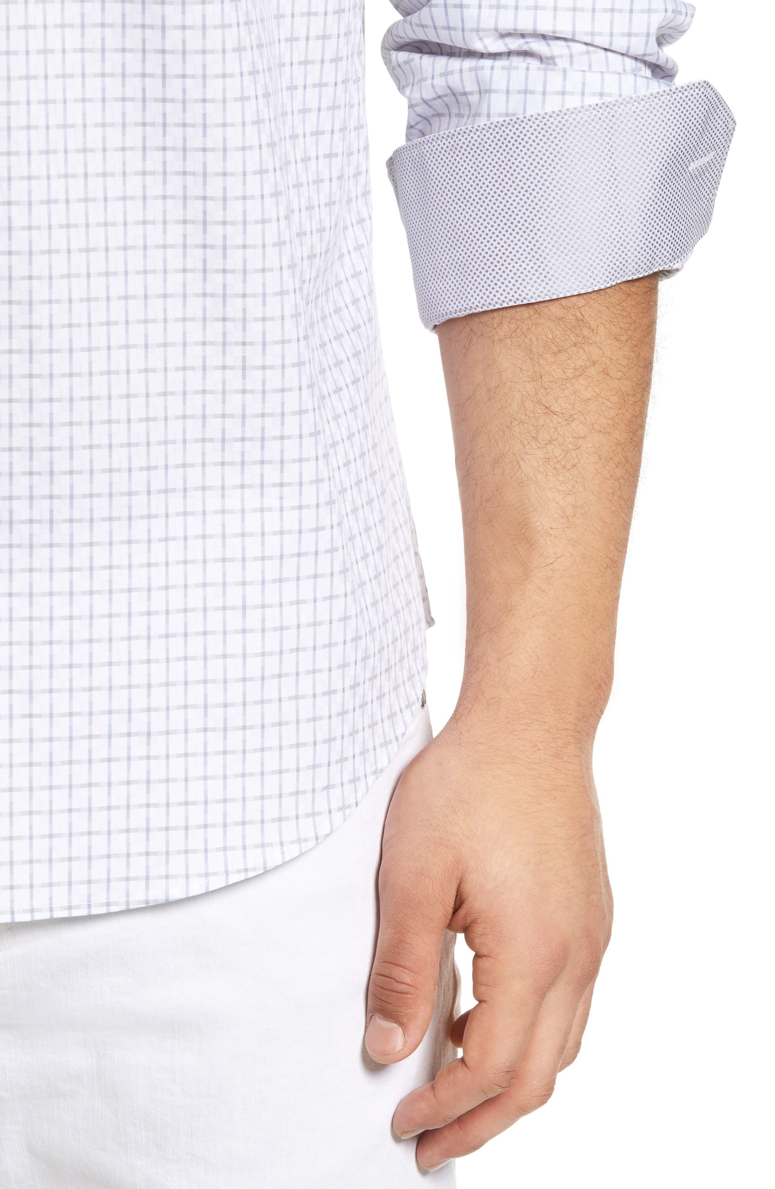 Classic Fit Graphic Sport Shirt,                             Alternate thumbnail 8, color,