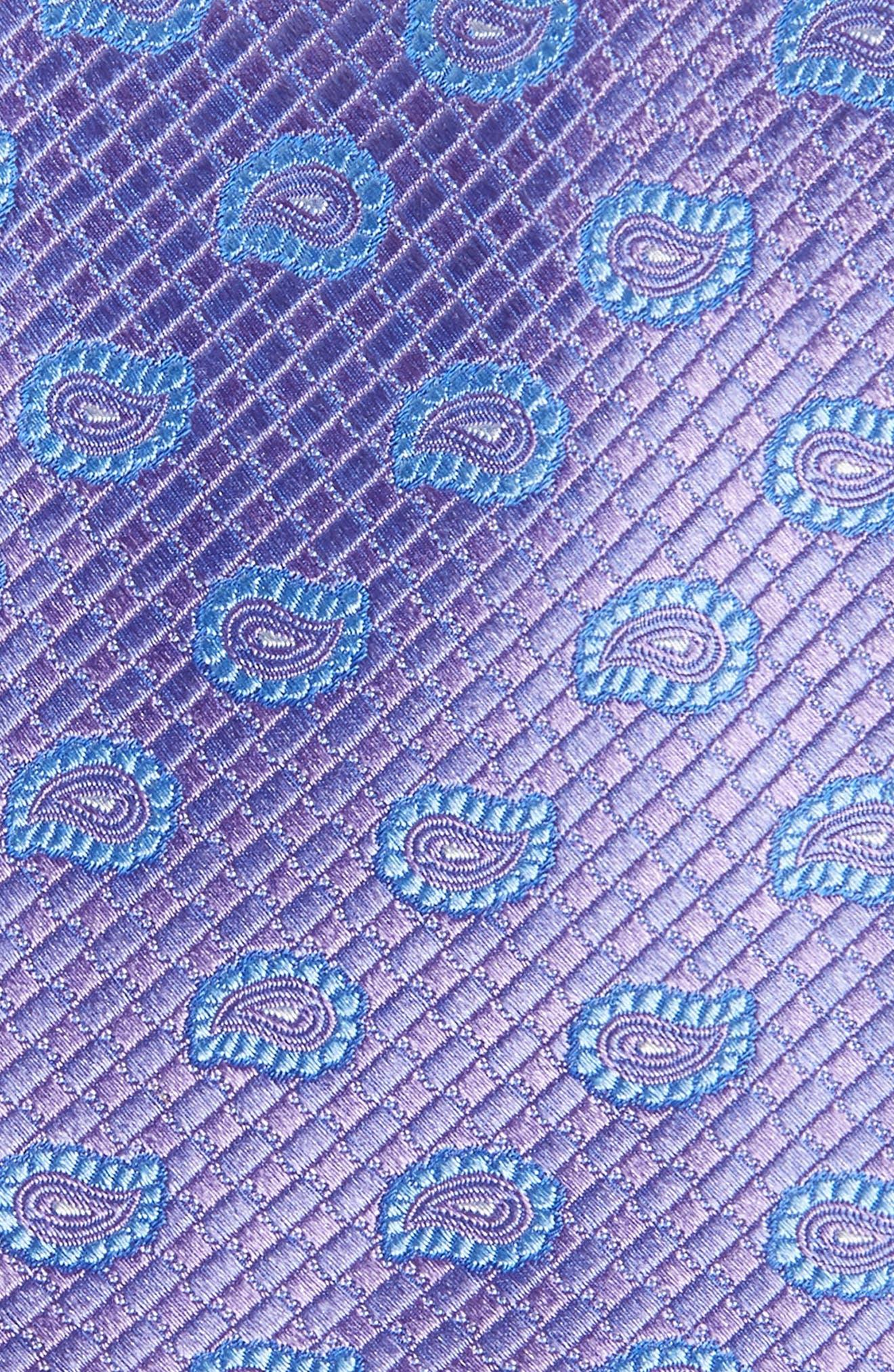Clarksonton Paisley Silk Tie,                             Alternate thumbnail 2, color,                             LILAC