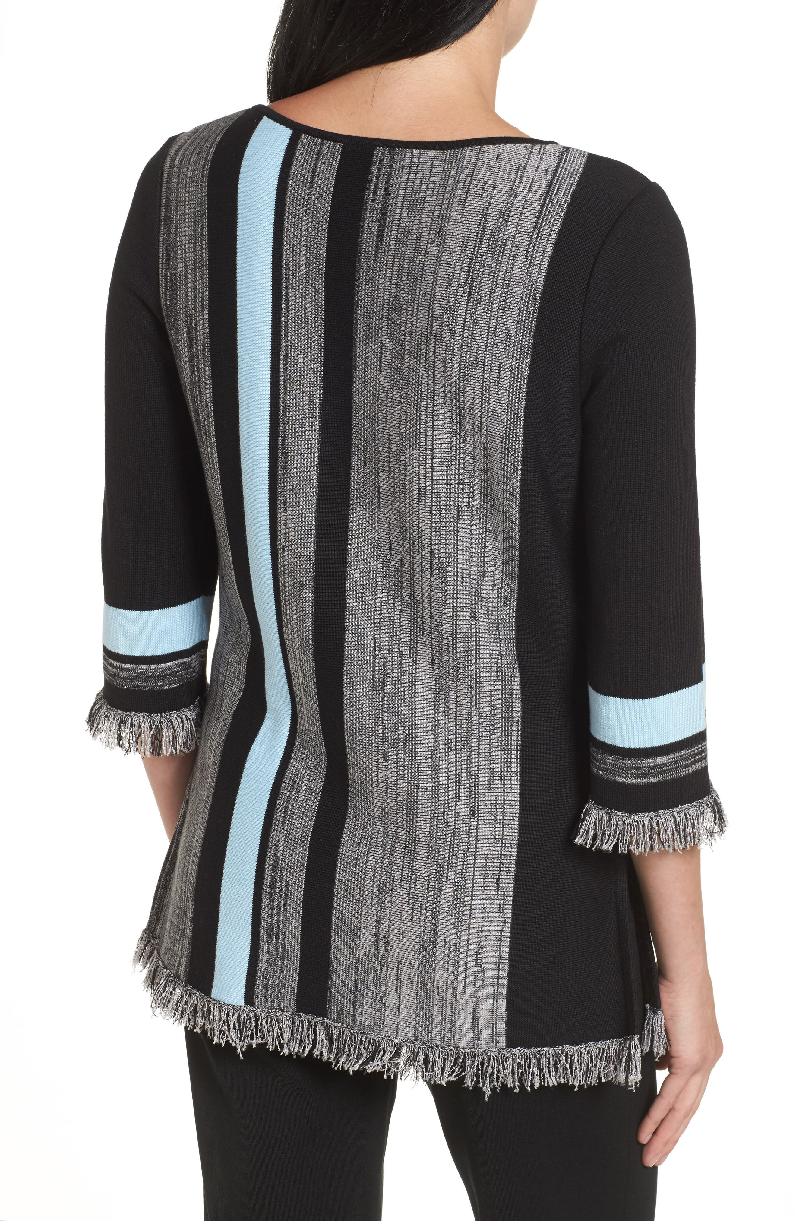 Fringe Trim Knit Tunic,                             Alternate thumbnail 2, color,                             021