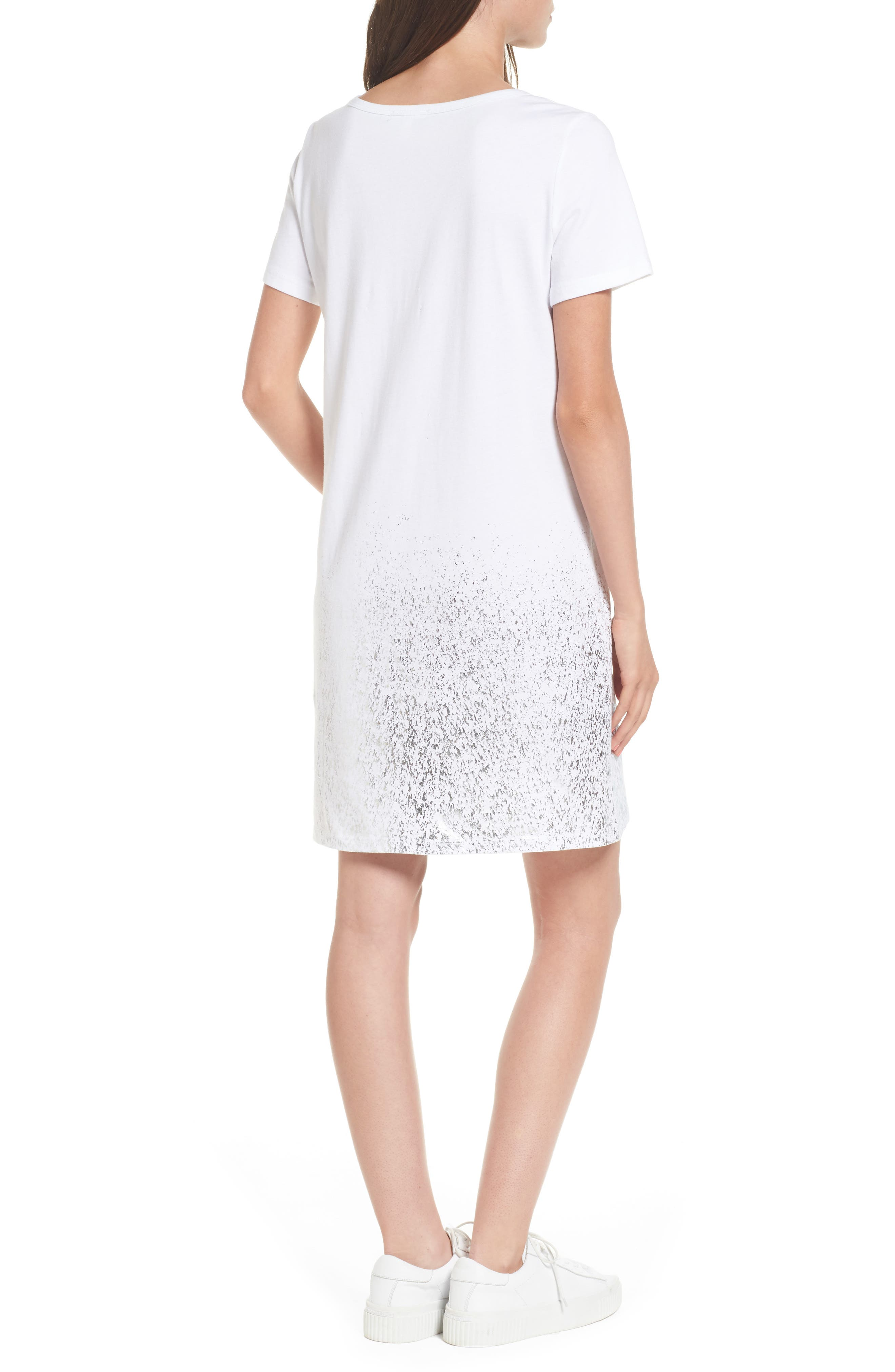 Foil Detail T-Shirt Dress,                             Alternate thumbnail 6, color,
