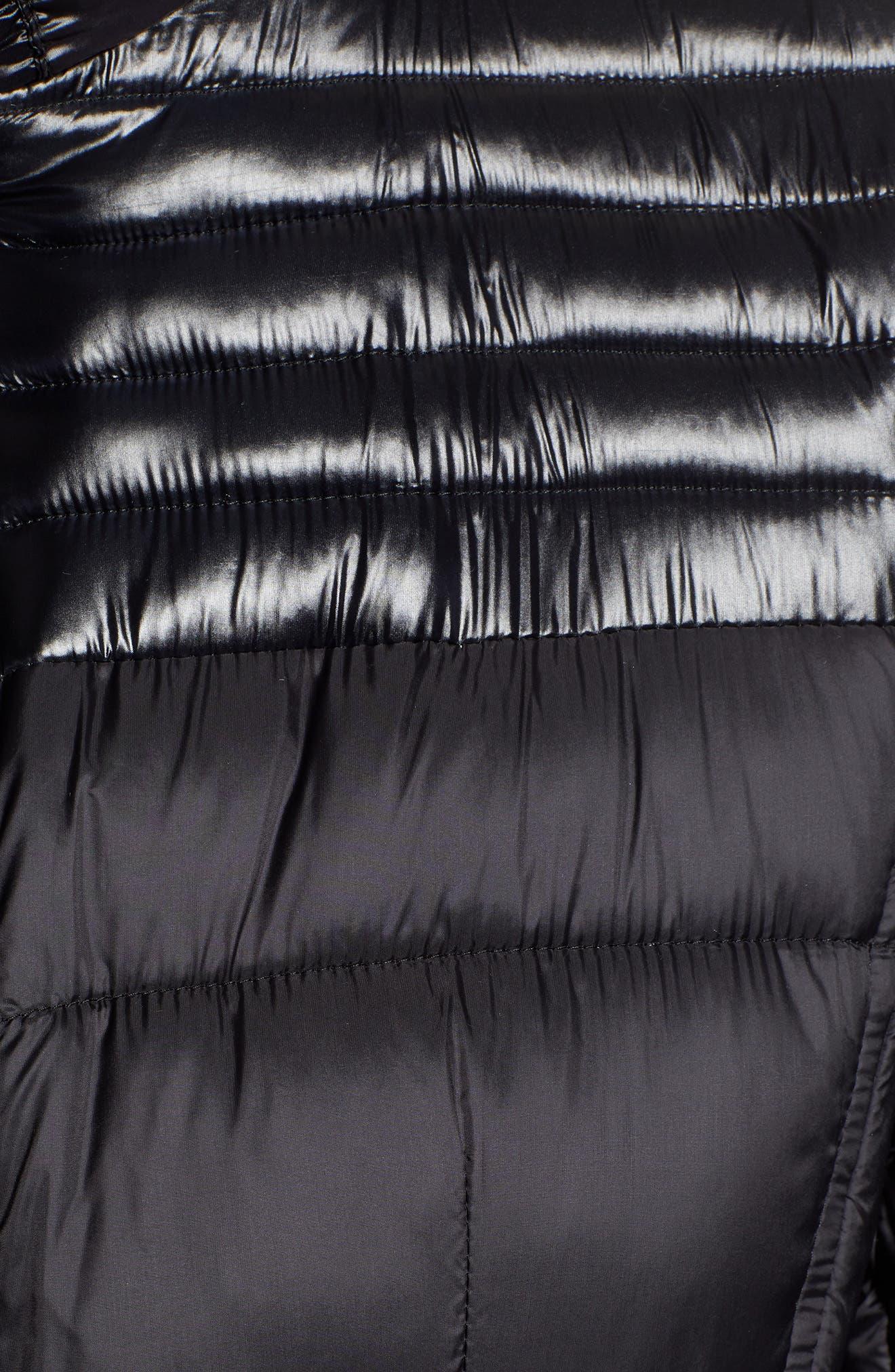RACHEL RACHEL ROY,                             Faux Fur Detail Water Resistant Puffer Coat,                             Alternate thumbnail 7, color,                             BLACK