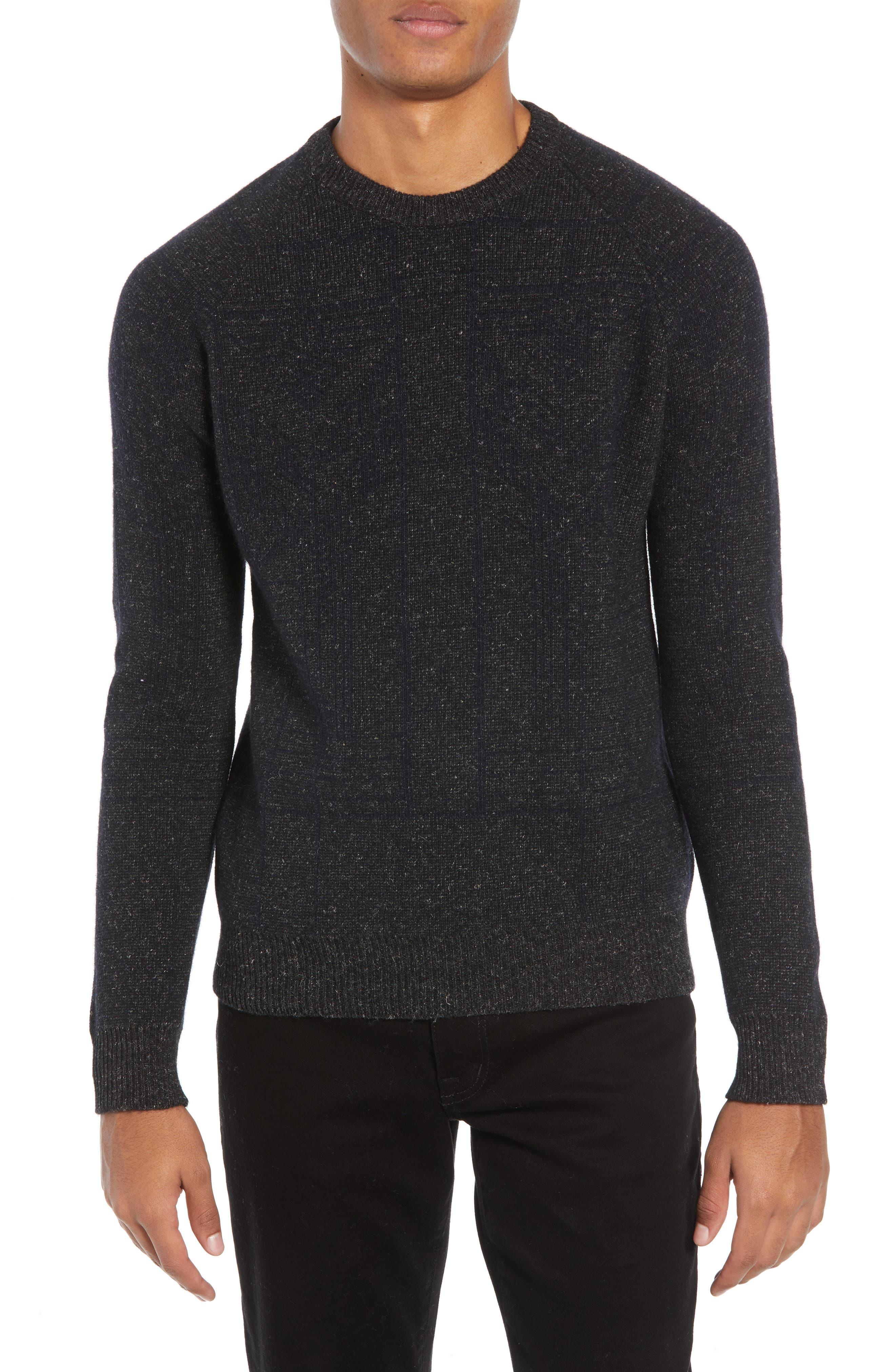 Regular Fit Crewneck Sweater,                             Main thumbnail 1, color,                             CHARCOAL