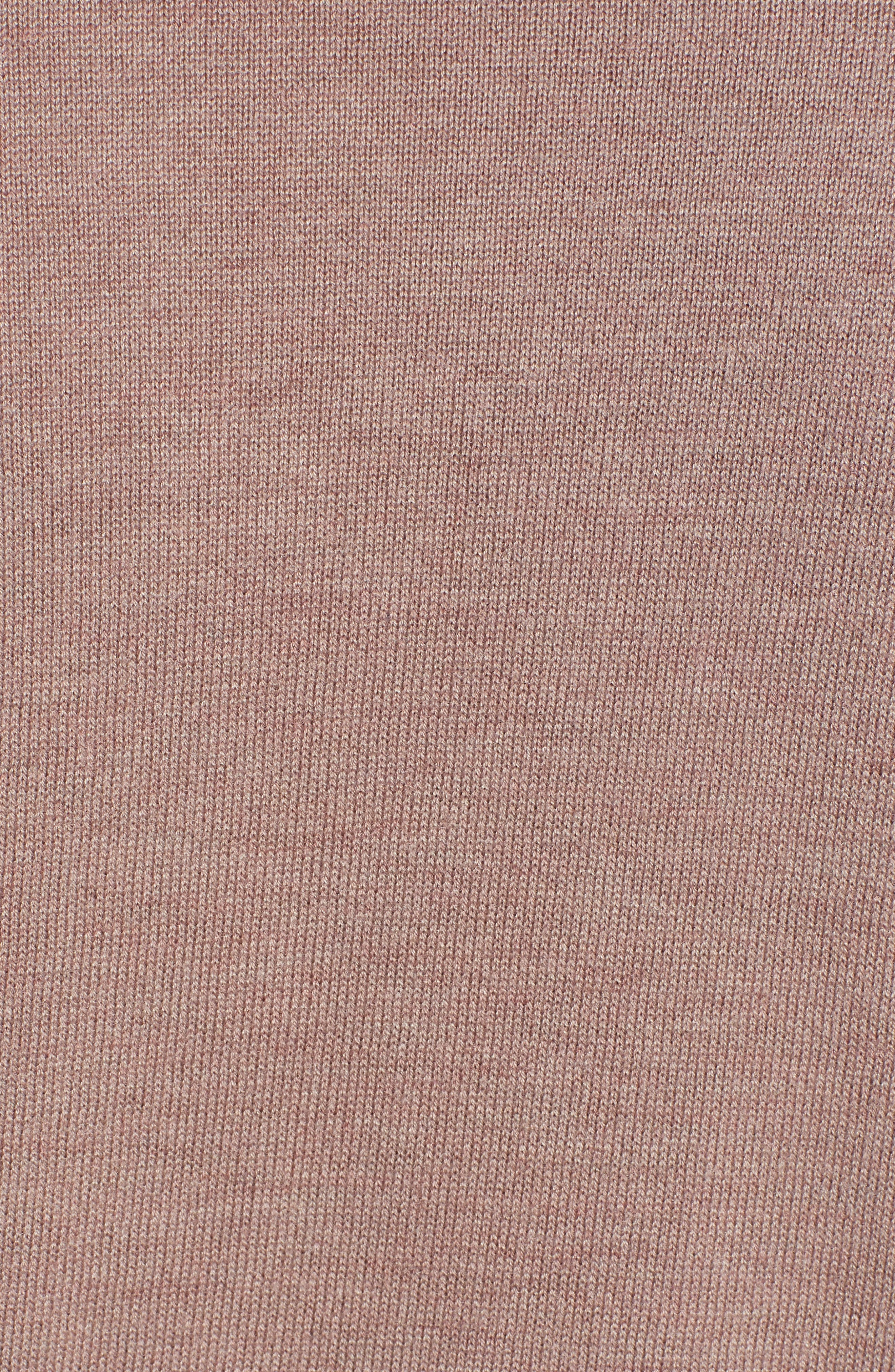 CHELSEA28,                             V-Neck Sweater,                             Alternate thumbnail 5, color,                             PINK FAWN HEATHER COMBO