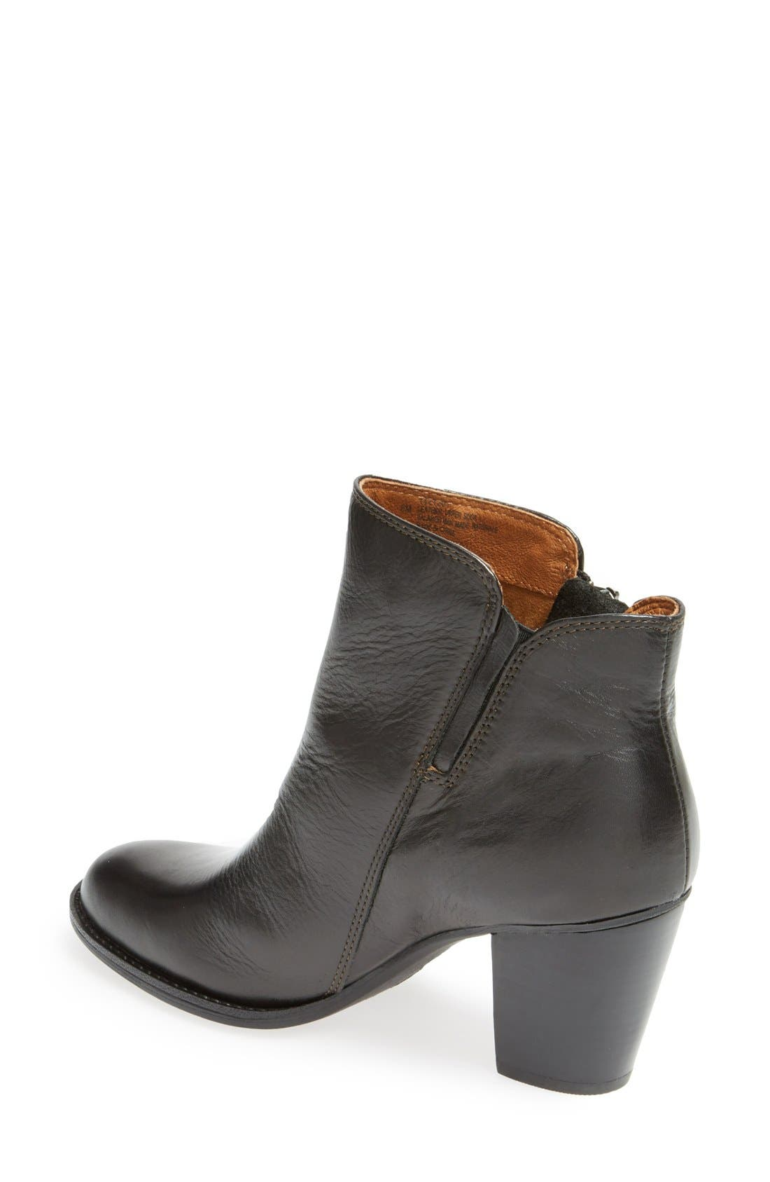 'Wera' Leather Bootie,                             Alternate thumbnail 2, color,                             001