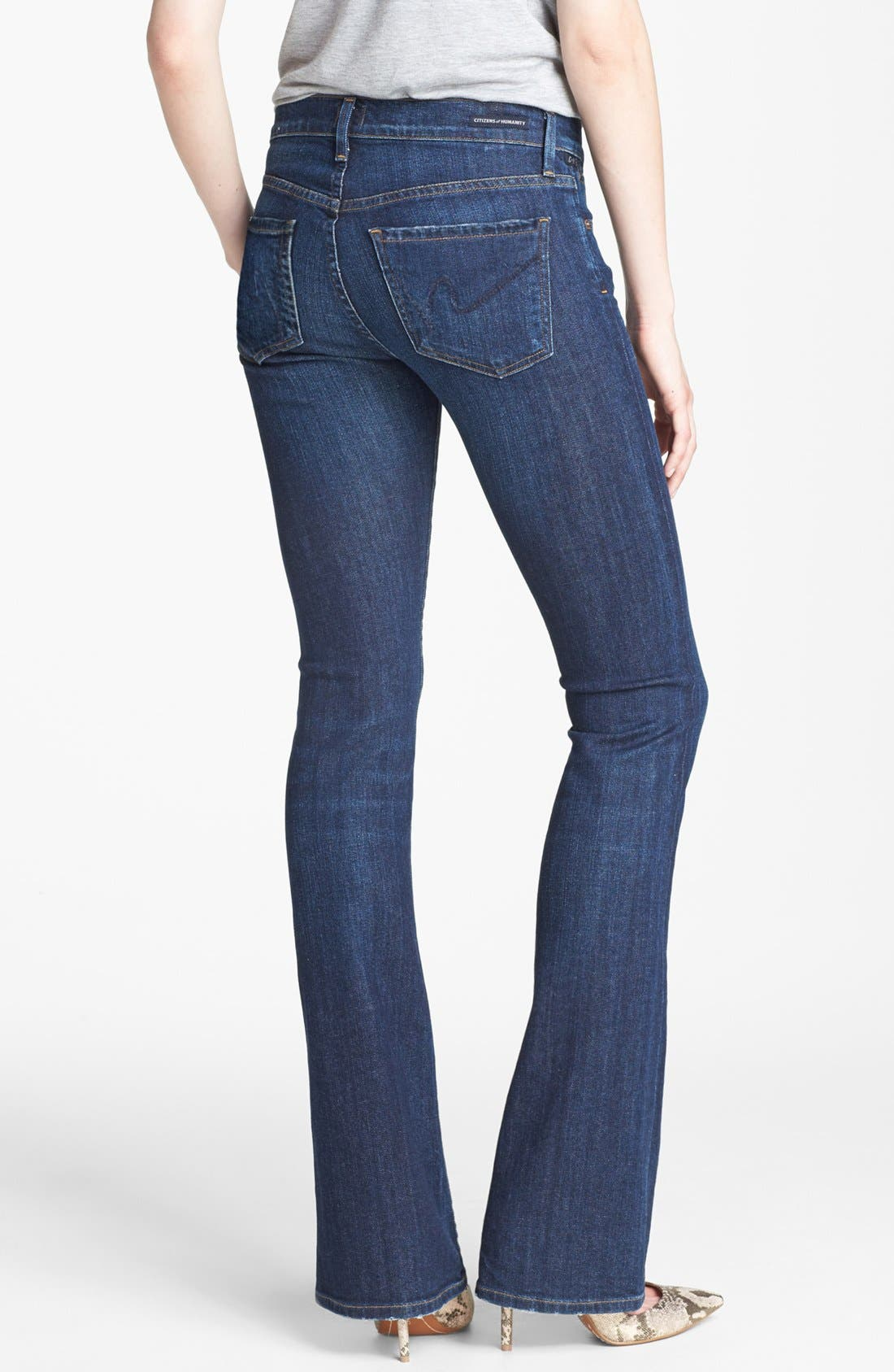 'Emmanuelle' Slim Bootcut Jeans,                             Alternate thumbnail 2, color,                             401