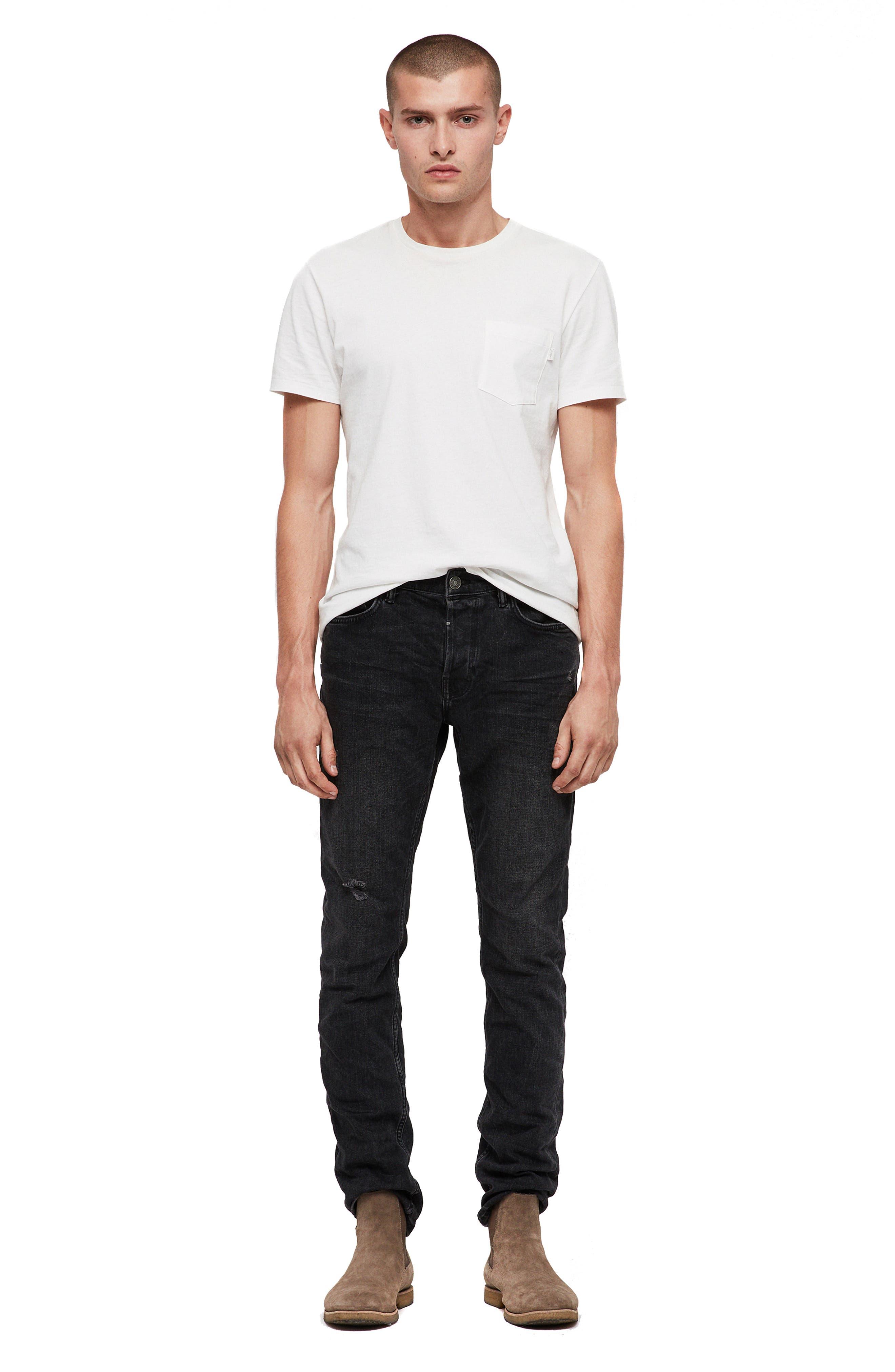 Rex Slim Fit Straight Leg Jeans,                             Alternate thumbnail 6, color,                             005