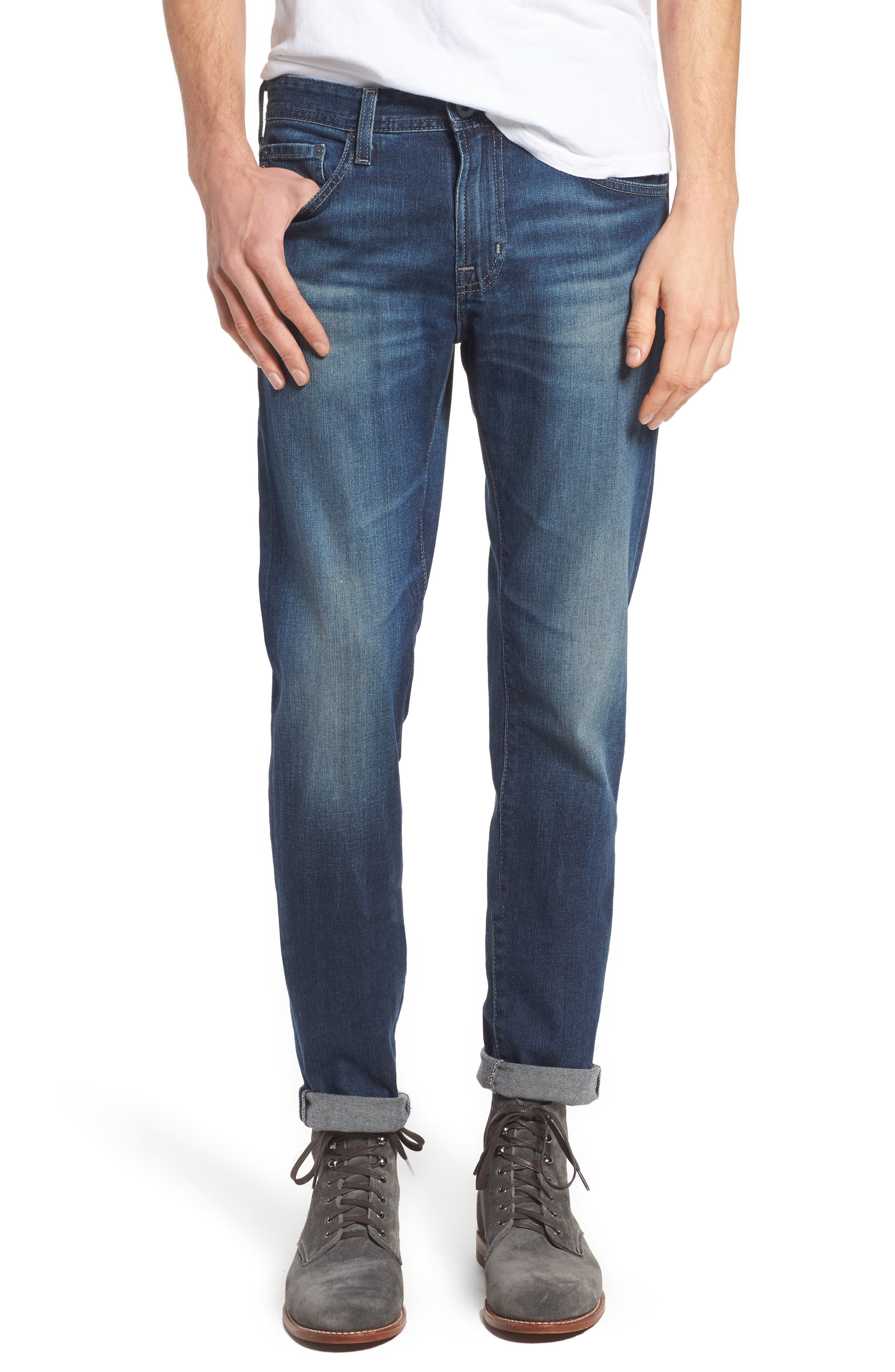 Dylan Slim Skinny Fit Jeans,                             Main thumbnail 1, color,                             TOWER
