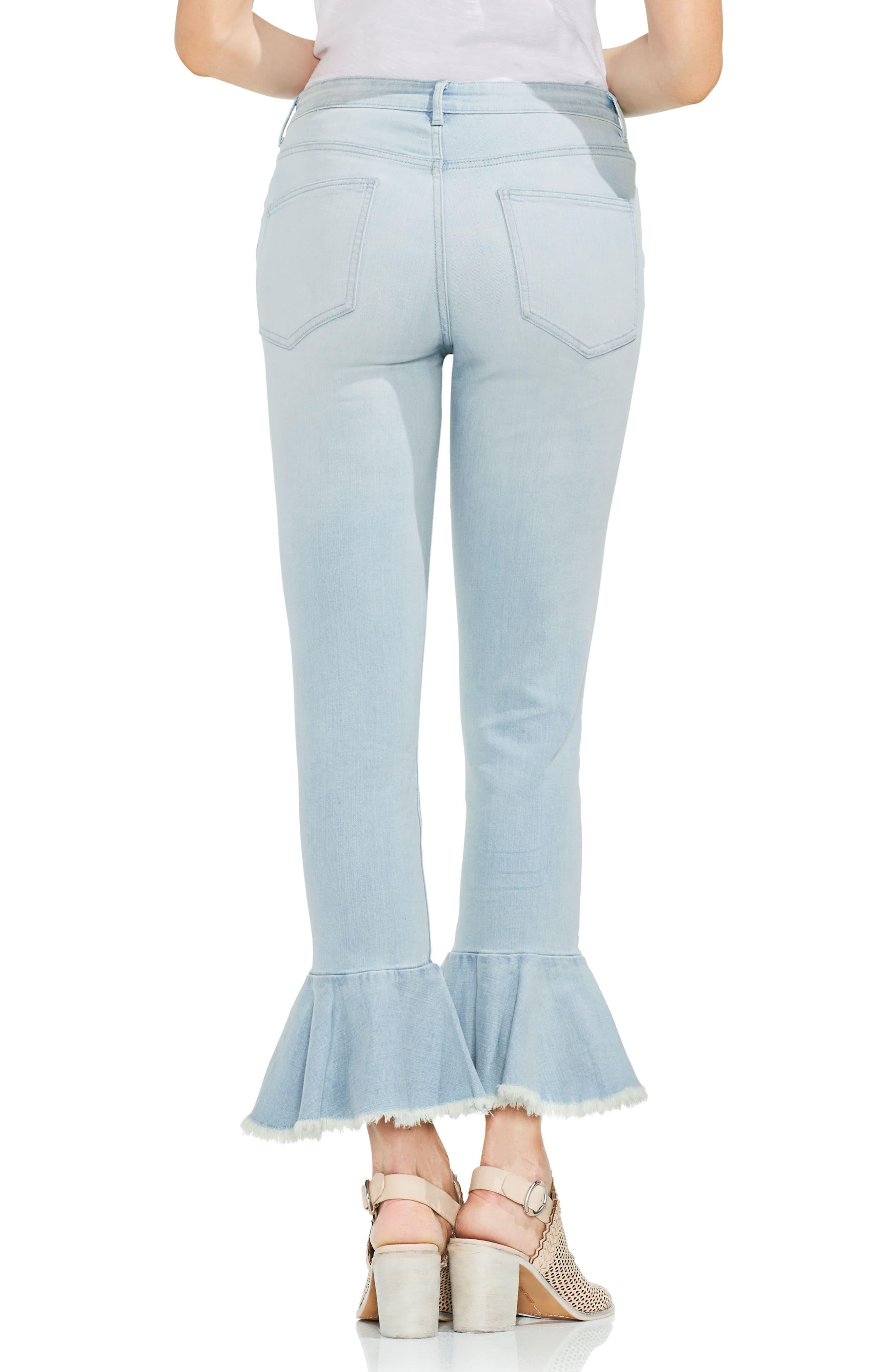 Ruffle Hem Ankle Jeans,                             Alternate thumbnail 2, color,                             400