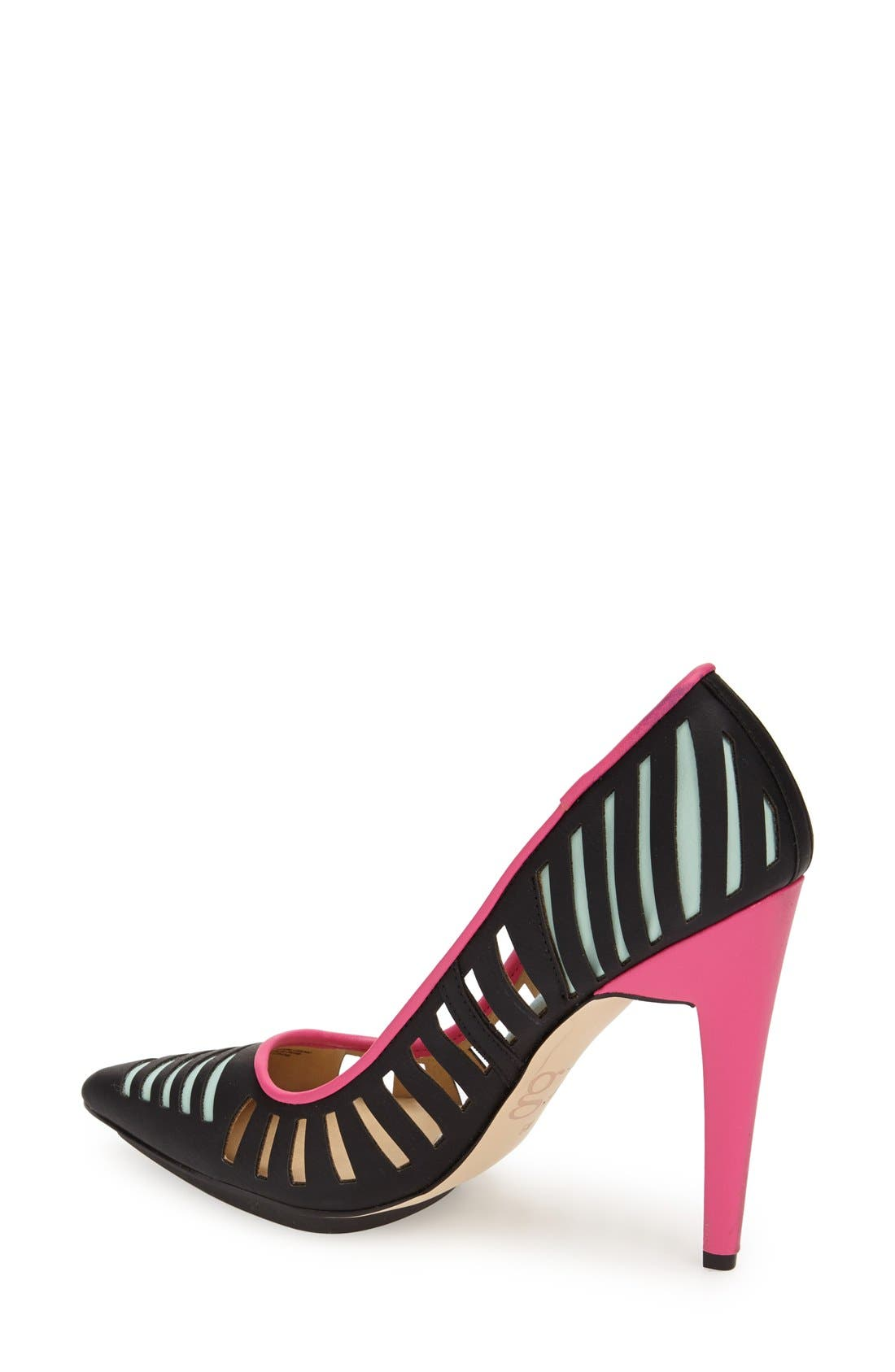 'Addie' Pointy Toe Pump,                             Alternate thumbnail 3, color,                             001