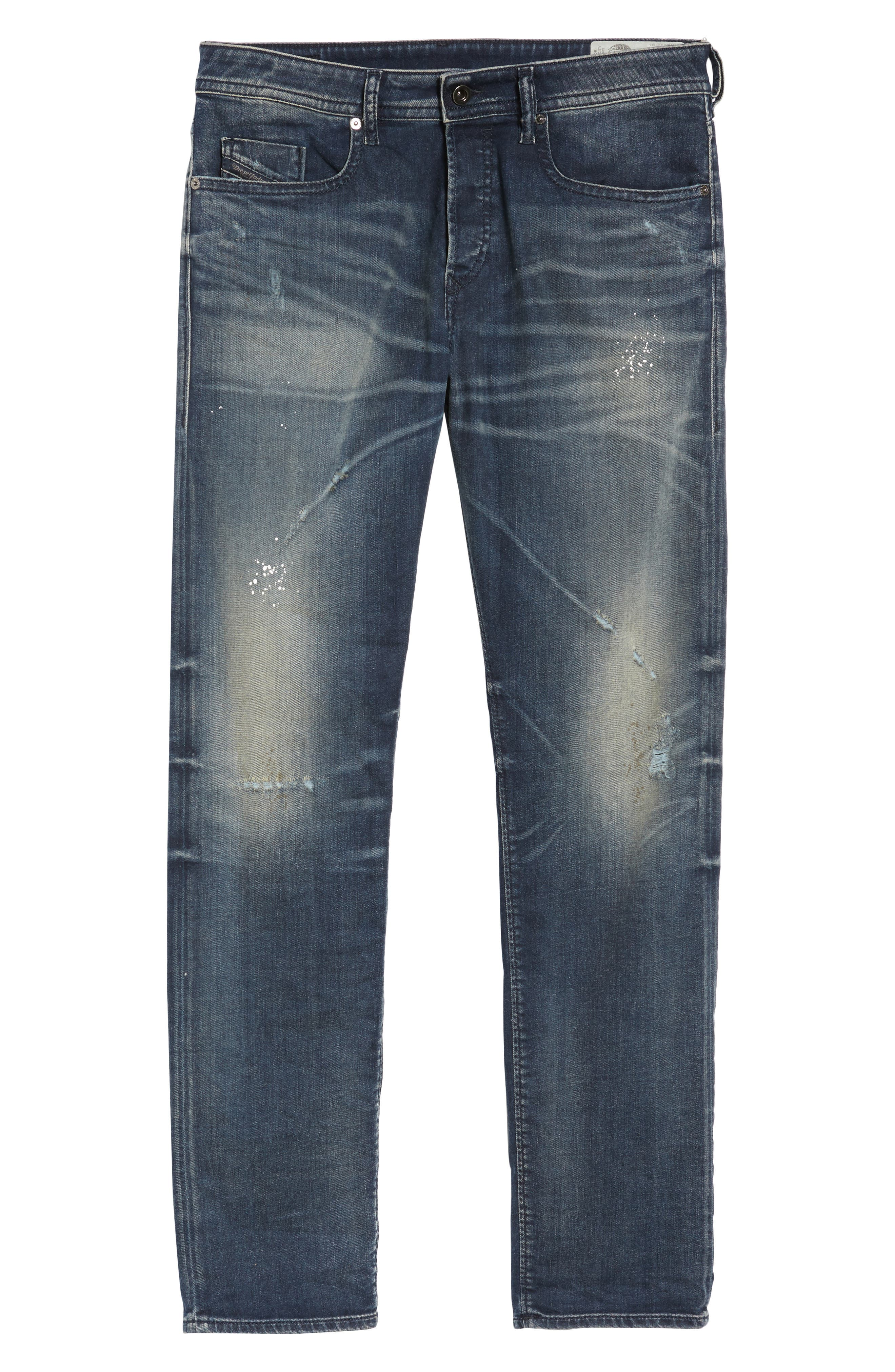 Buster Slim Straight Leg Jeans,                             Alternate thumbnail 6, color,                             400