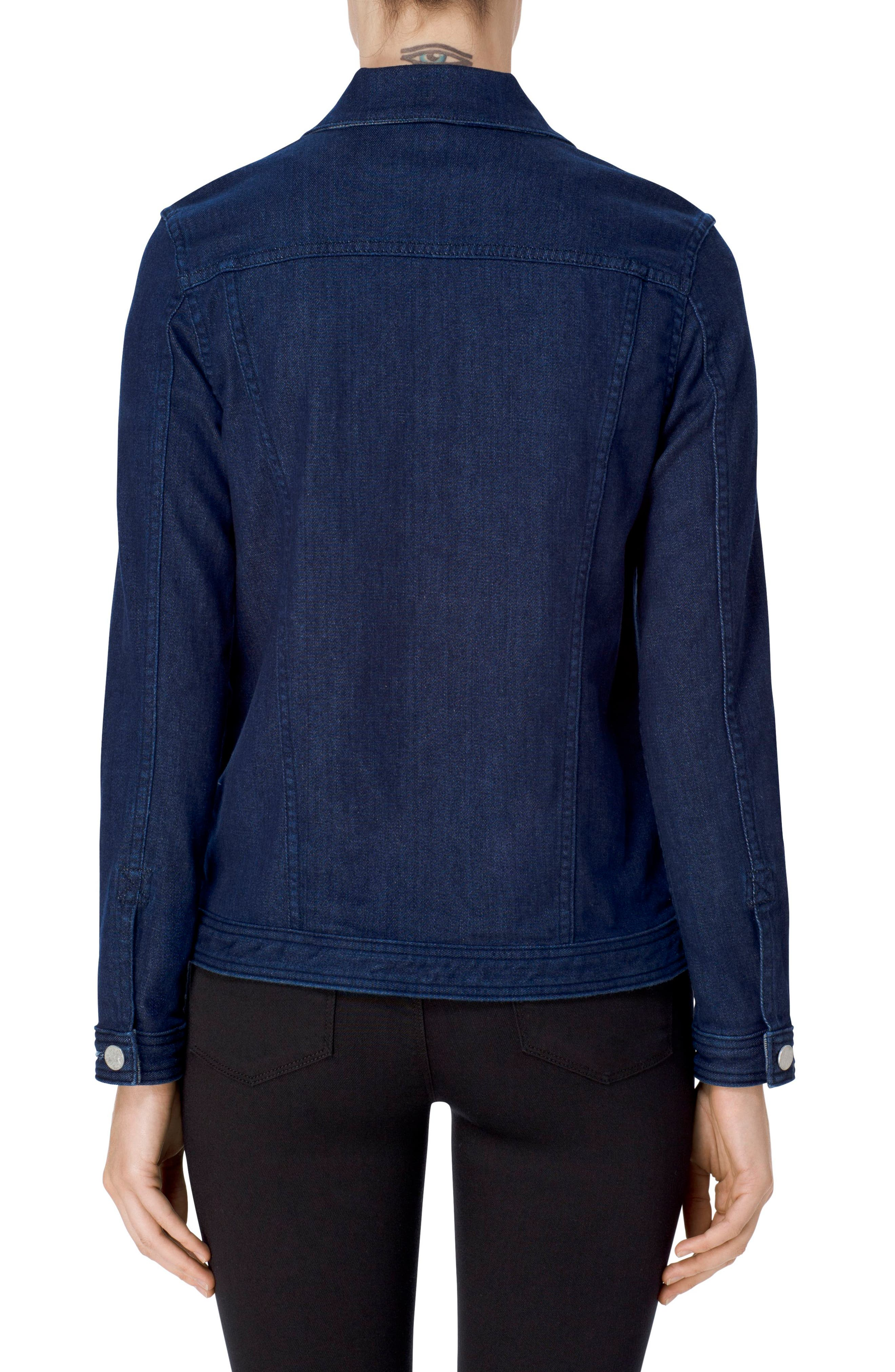 Cyra Reversible Denim Jacket,                             Alternate thumbnail 3, color,