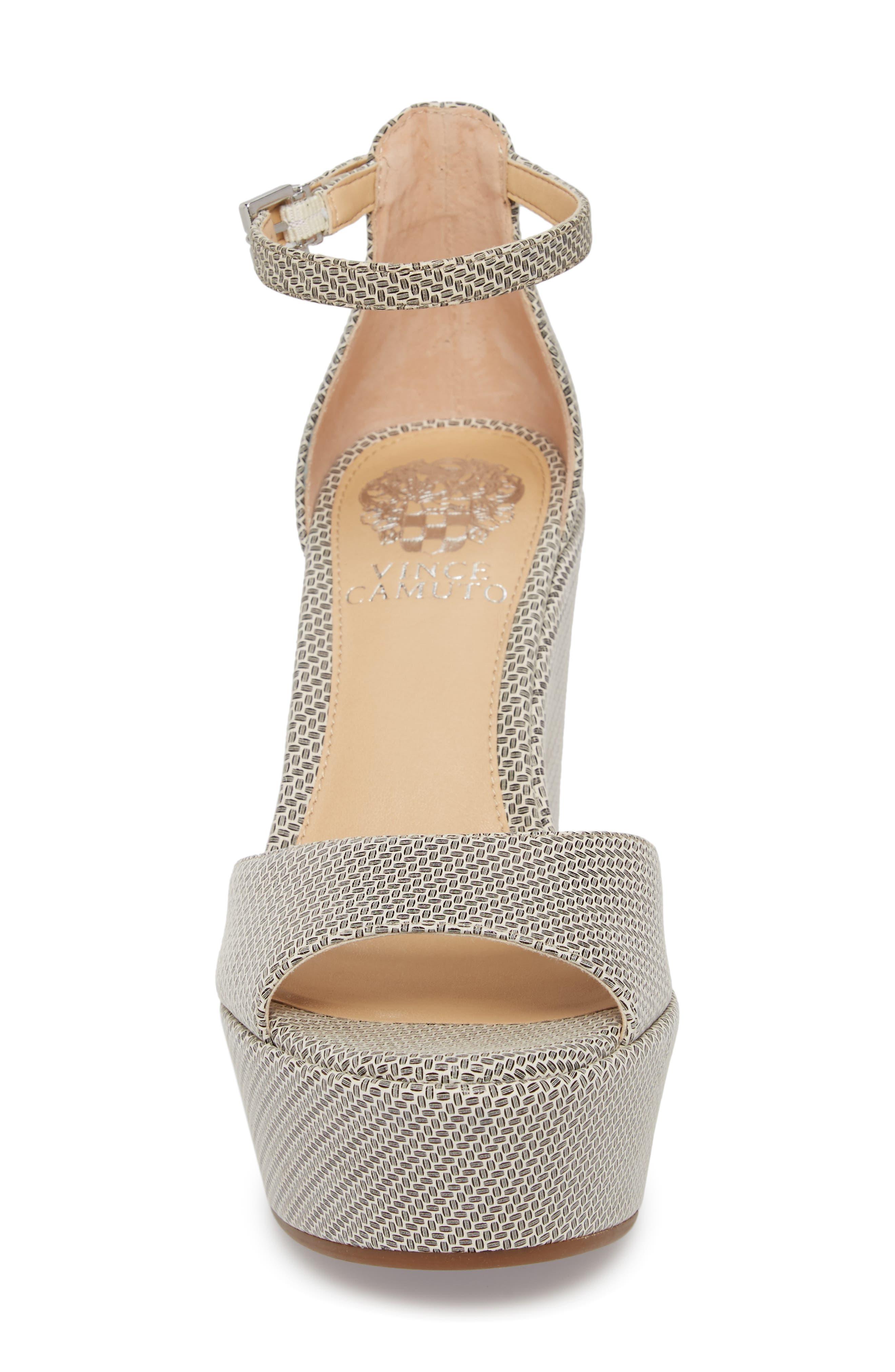Tatchen Ankle Strap Platform Sandal,                             Alternate thumbnail 4, color,                             002