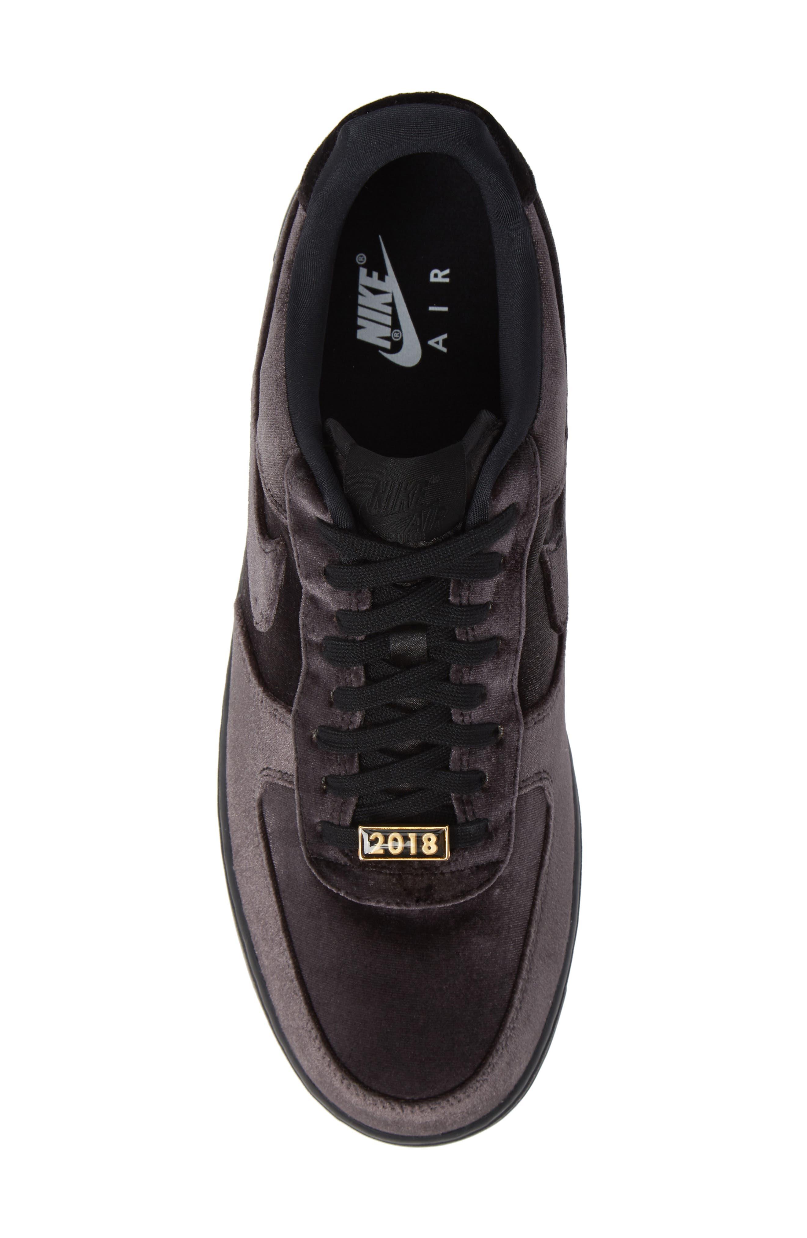 Air Force 1 '07 QS Sneaker,                             Alternate thumbnail 5, color,                             BLACK/ BLACK/ WHITE