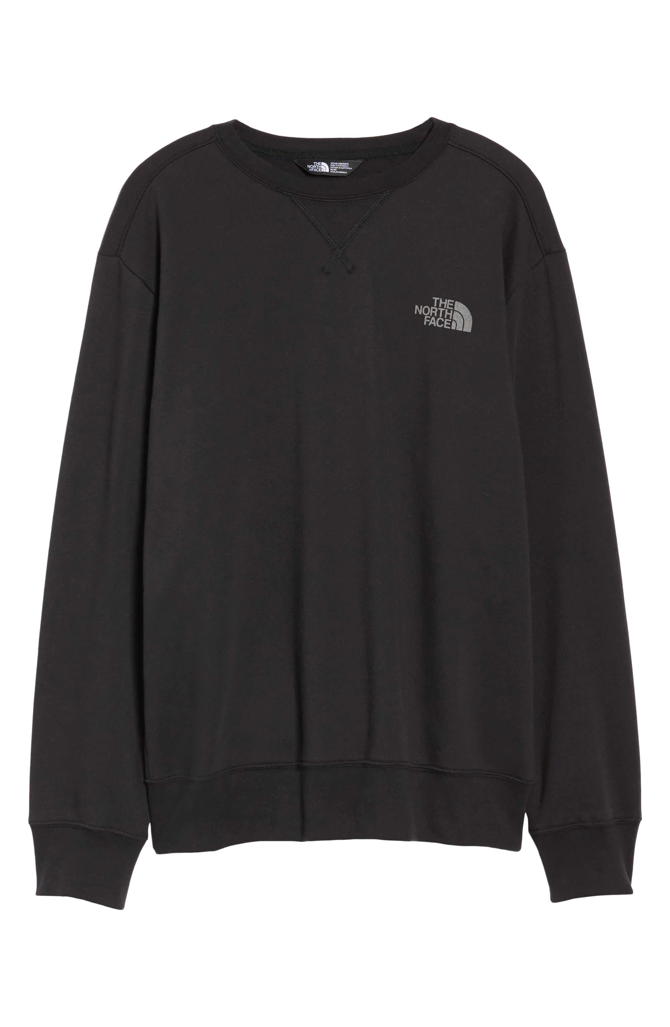 'Half Dome' Crewneck Sweatshirt,                             Alternate thumbnail 6, color,                             002