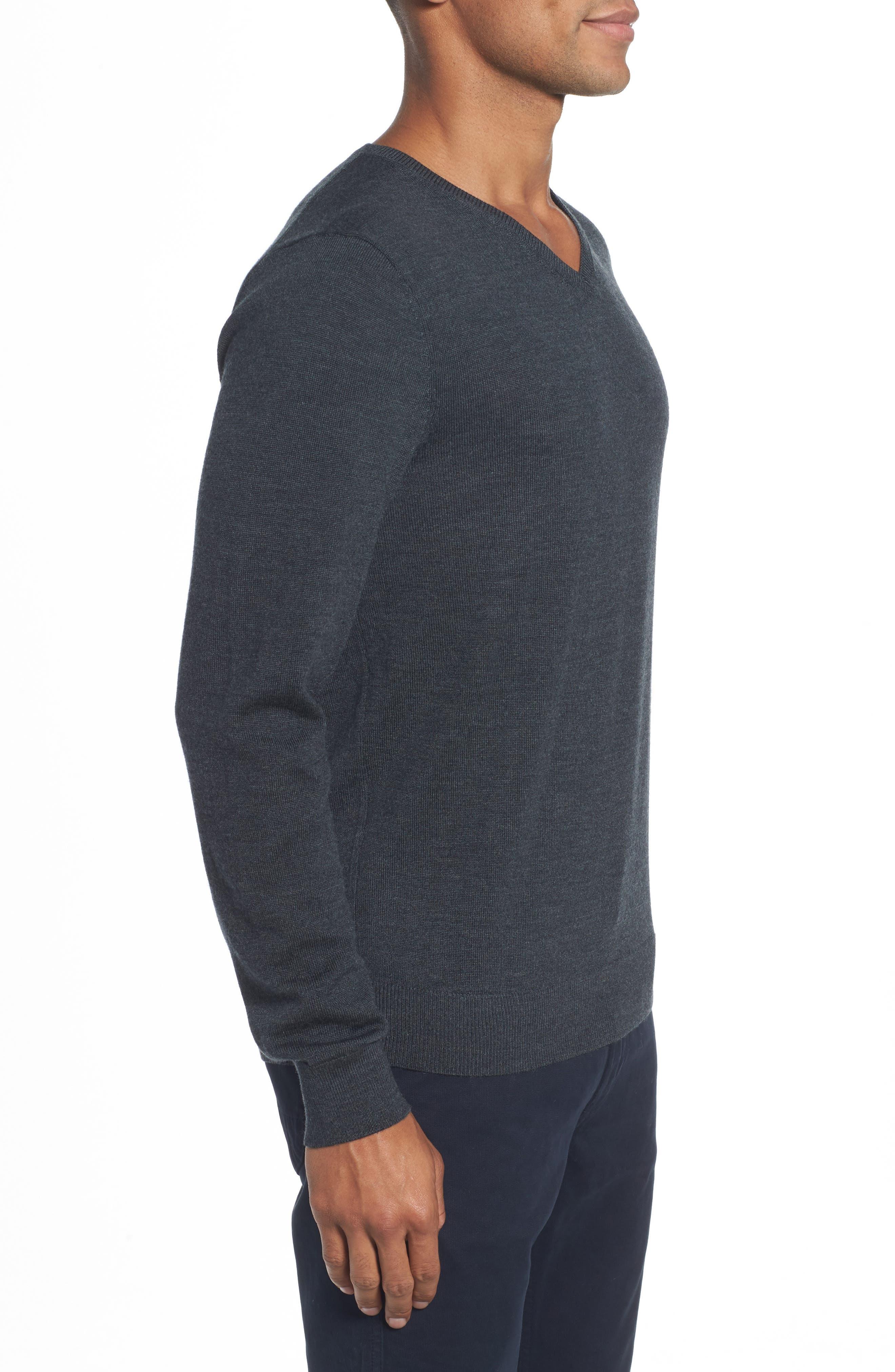 Merino V-Neck Sweater,                             Alternate thumbnail 3, color,                             020