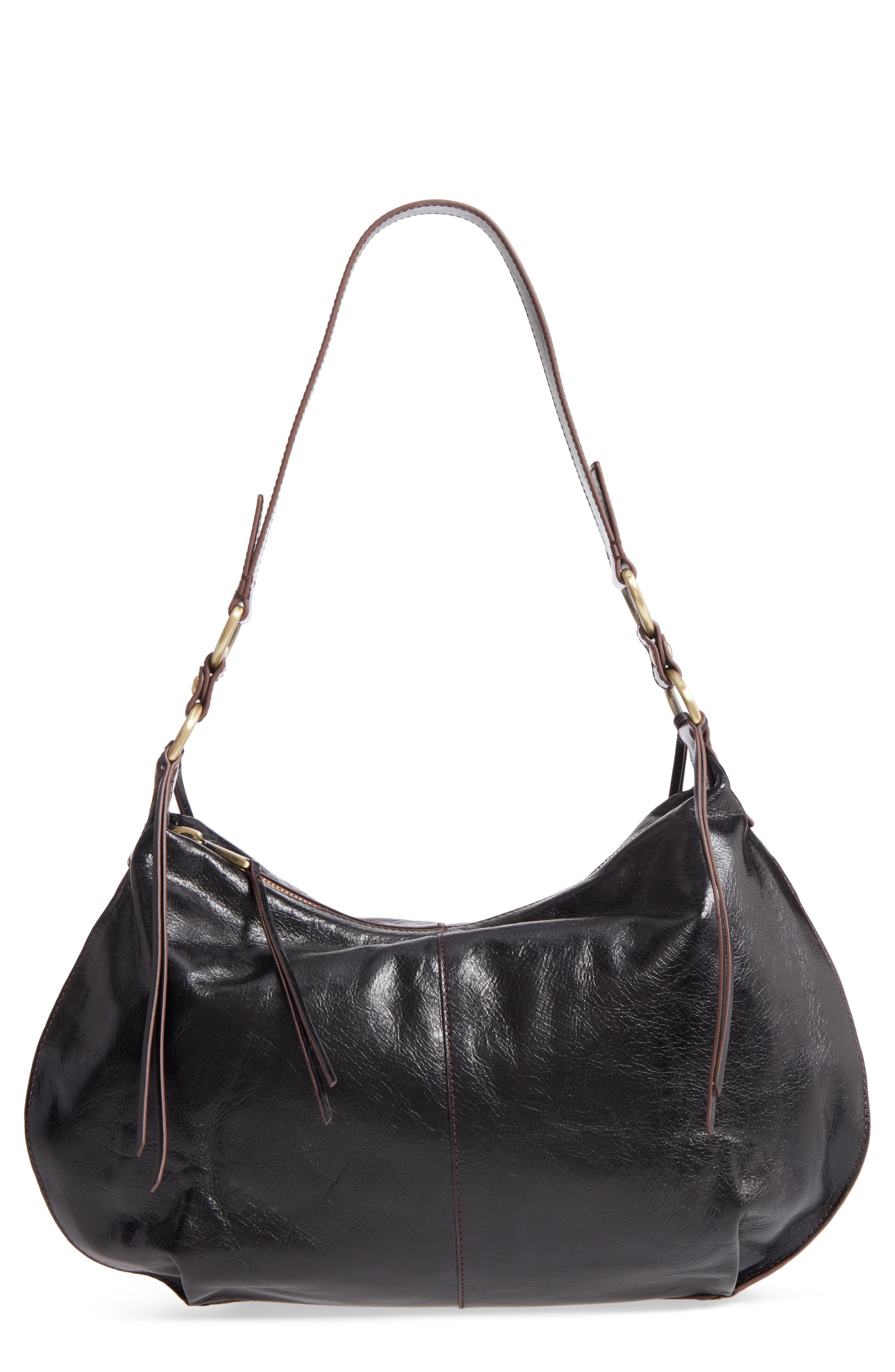 HOBO,                             Lennox Leather Shoulder Bag,                             Main thumbnail 1, color,                             001