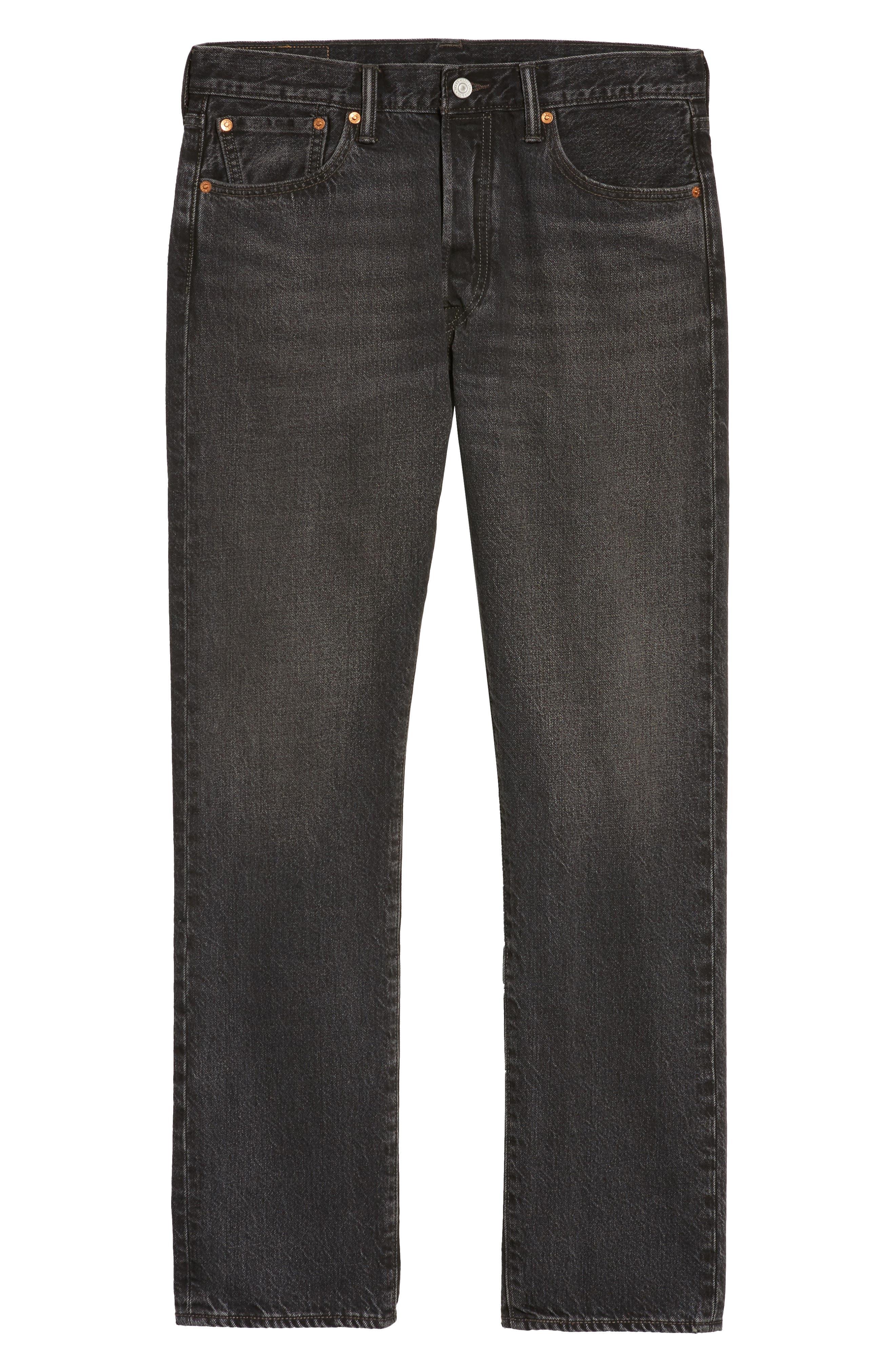 501<sup>™</sup> Straight Leg Jeans,                             Alternate thumbnail 6, color,                             001