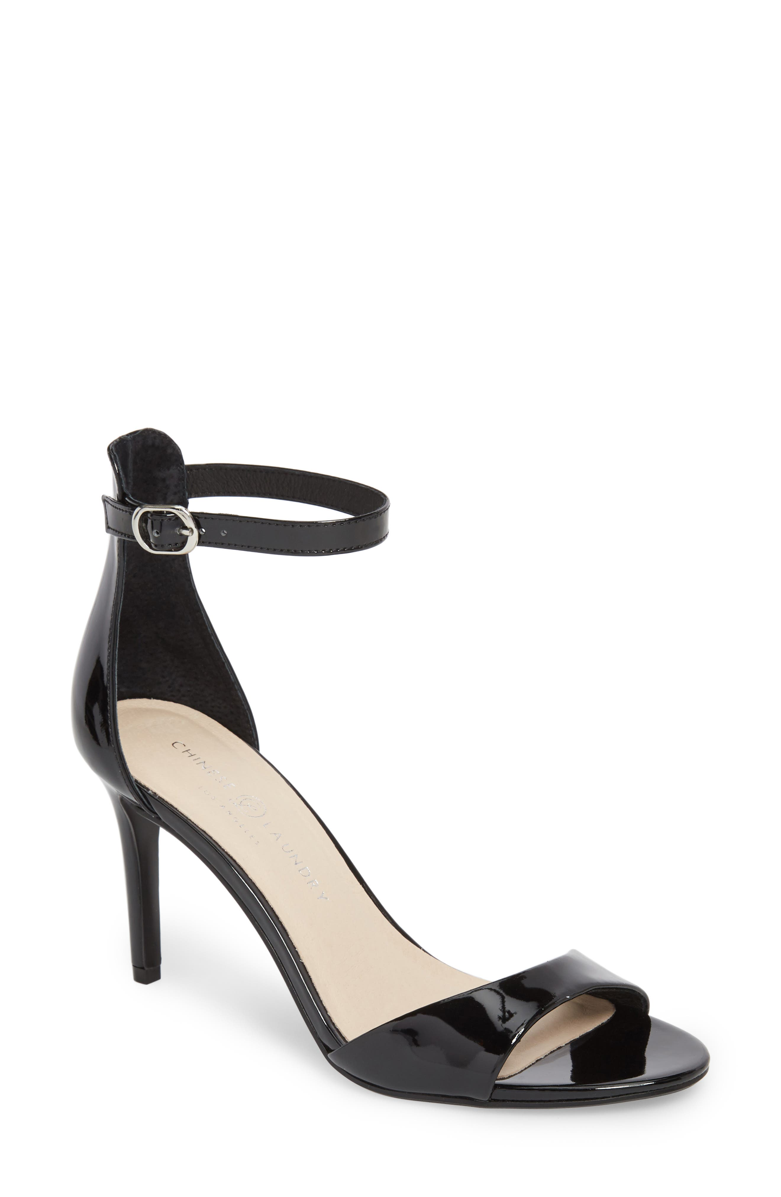 Simone Ankle Strap Sandal,                         Main,                         color, 001
