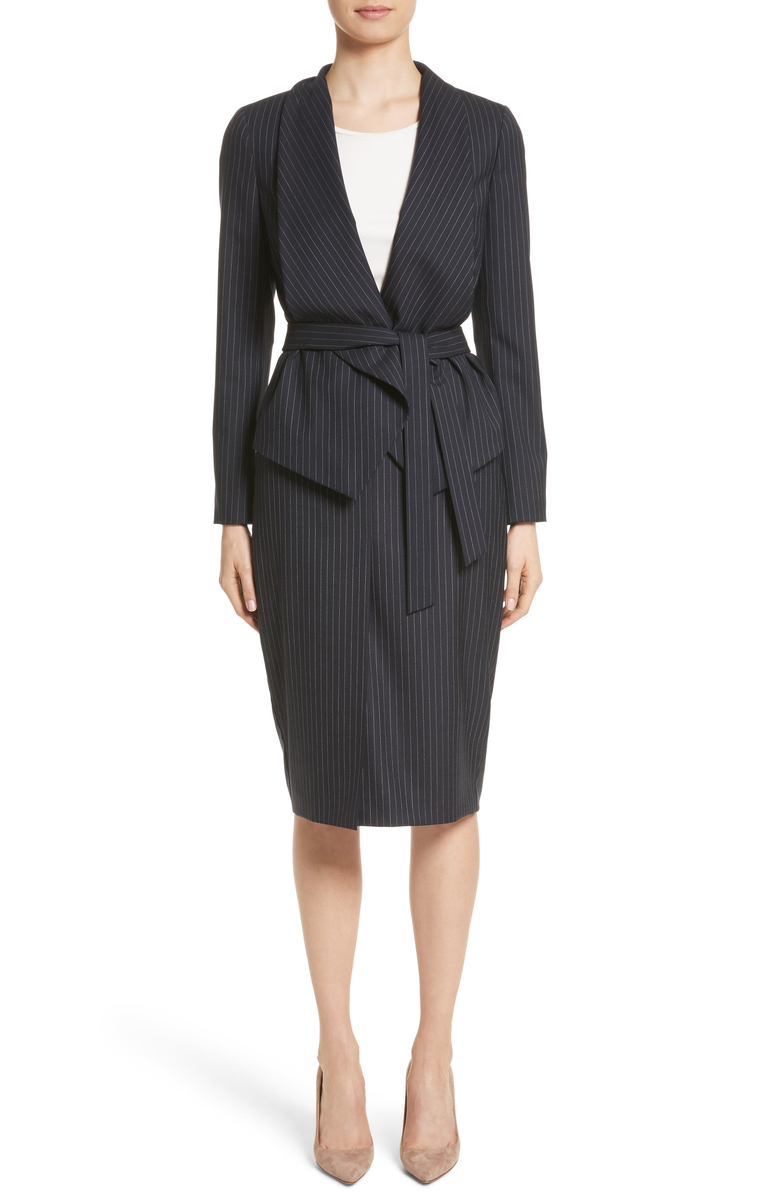 Giunto Stretch Wool Belted Blazer,                             Alternate thumbnail 7, color,