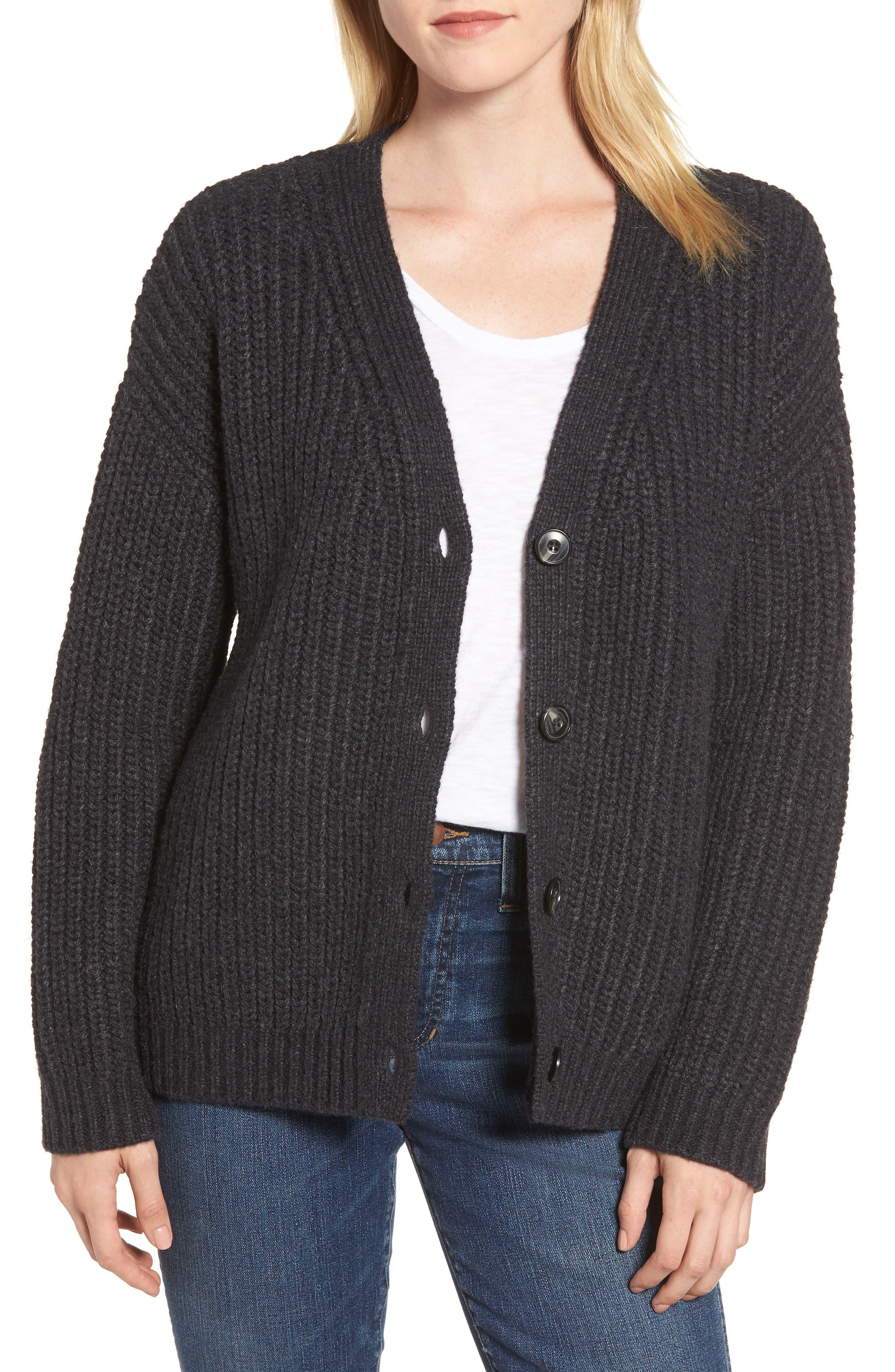 Chunky Wool Alpaca Shaker Cardigan,                         Main,                         color, 025