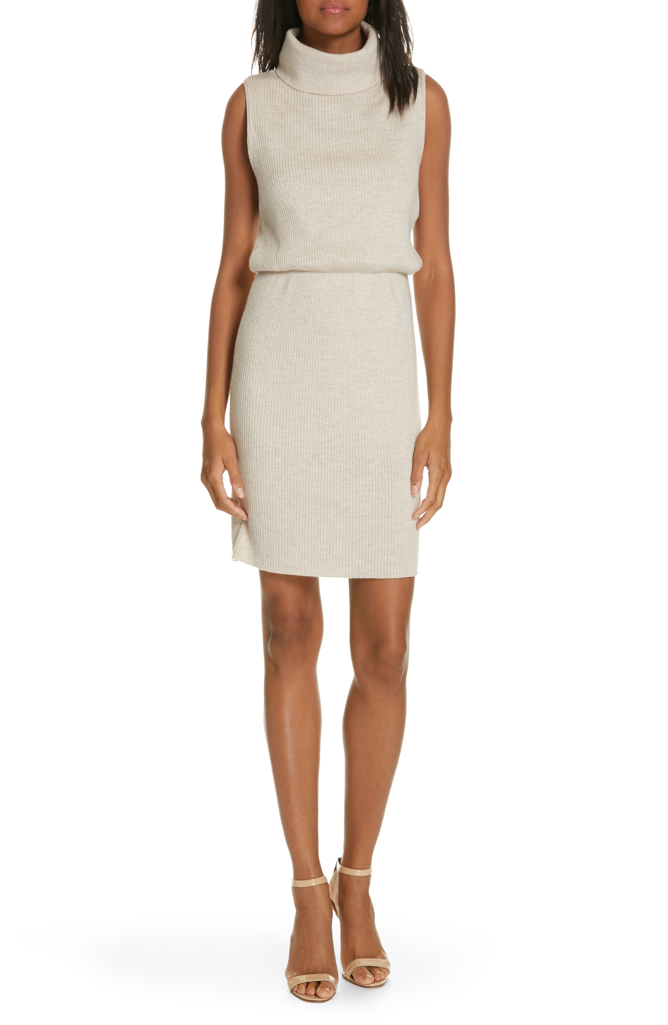 Alice + Olivia Hailee Blouson Sweater Dress, Ivory