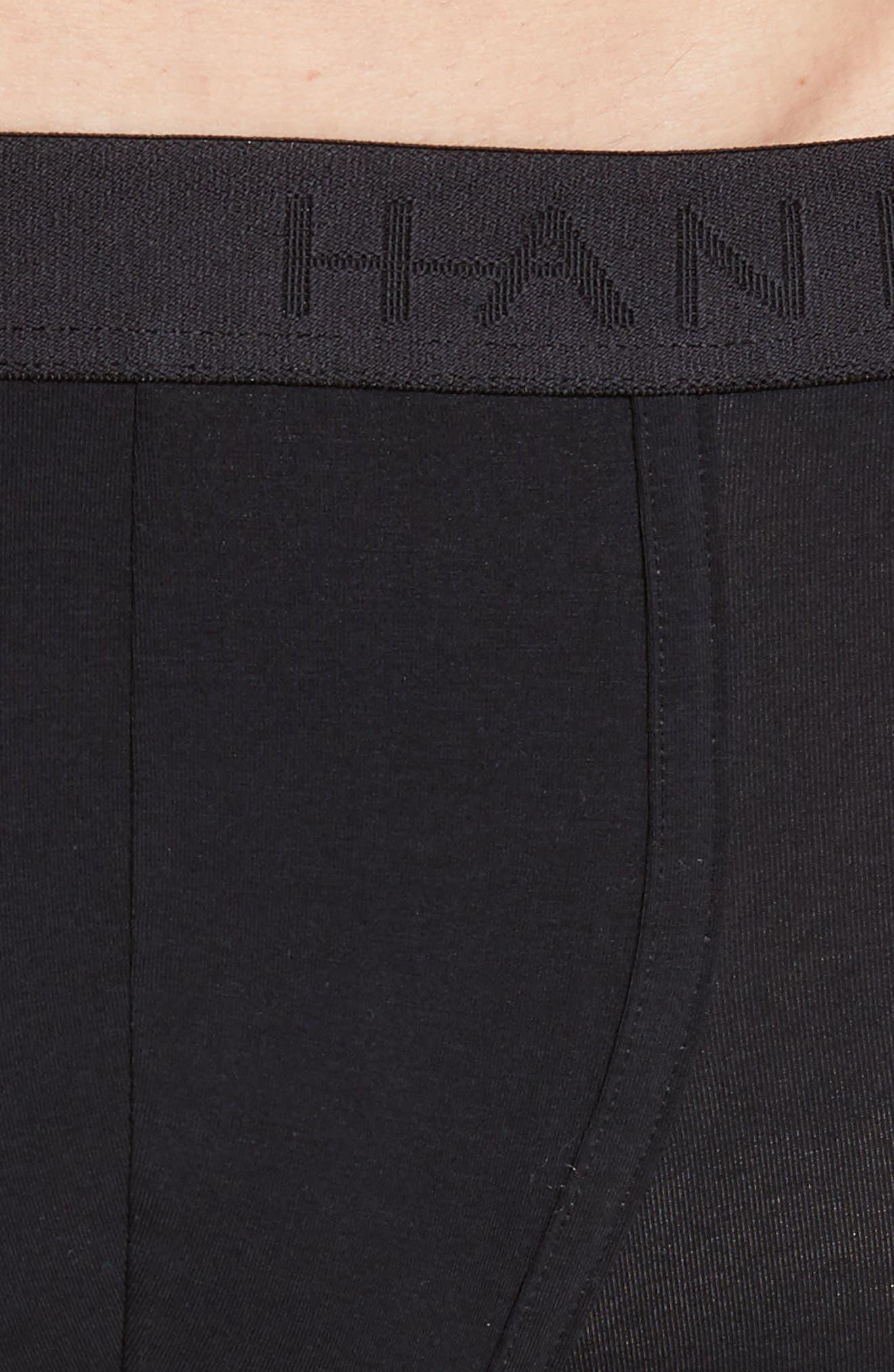 Stretch Cotton Trunks,                             Alternate thumbnail 4, color,                             BLACK