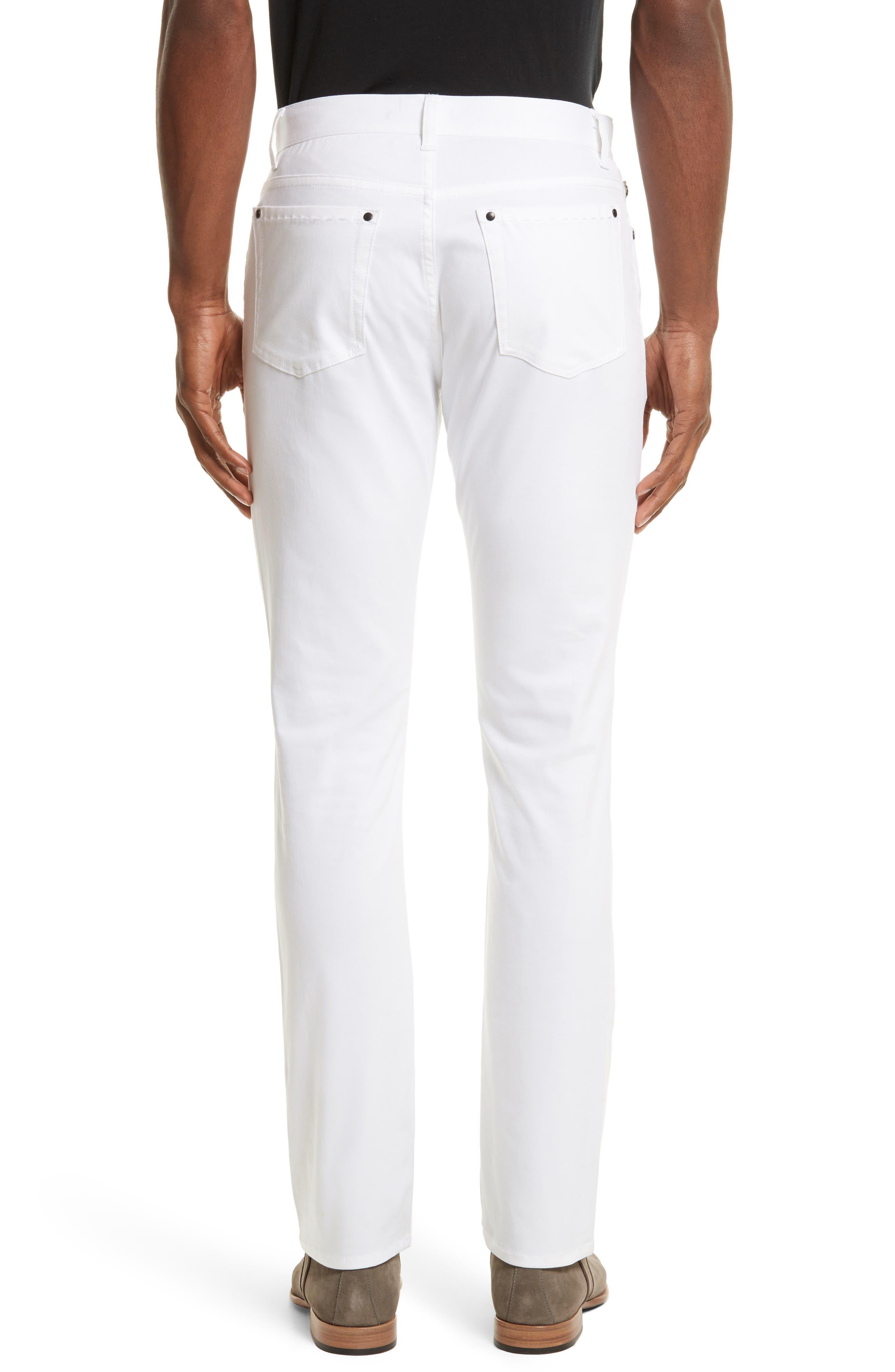 Slim Fit Five Pocket Pants,                             Alternate thumbnail 2, color,                             WHITE