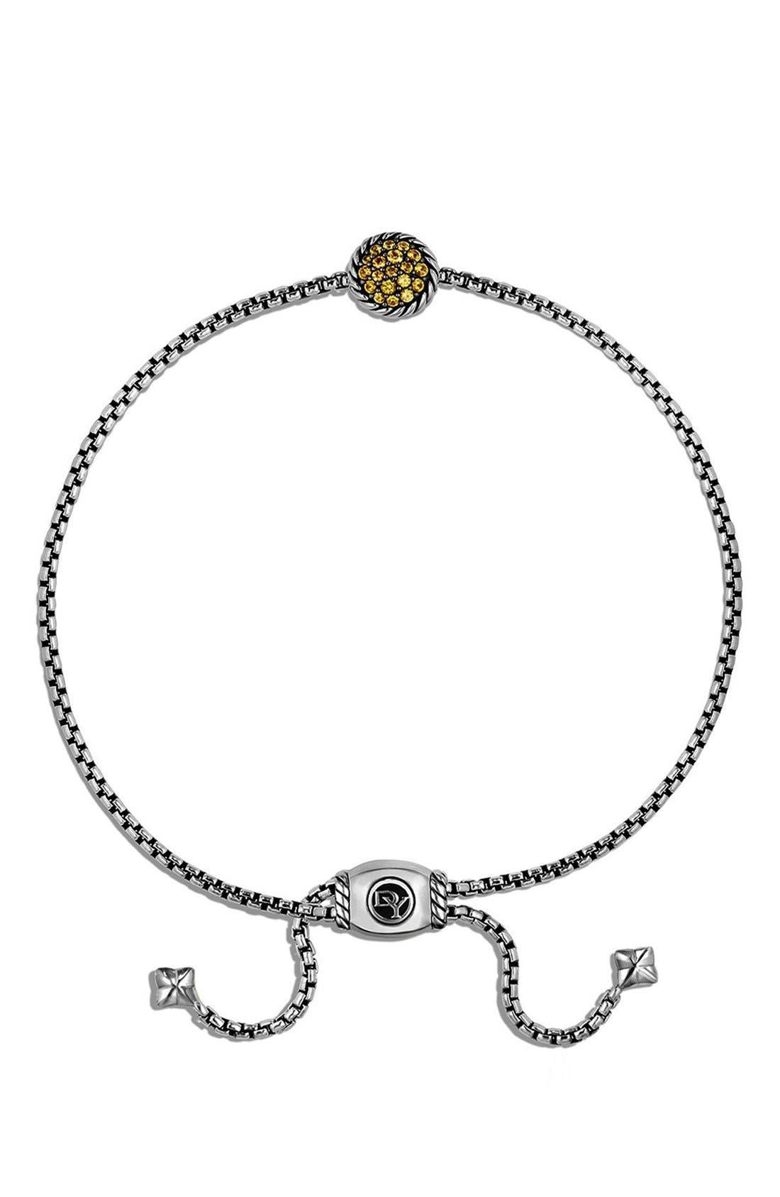 'Châtelaine' Petite Bracelet,                             Alternate thumbnail 2, color,                             SILVER/ YELLOW SAPPHIRE