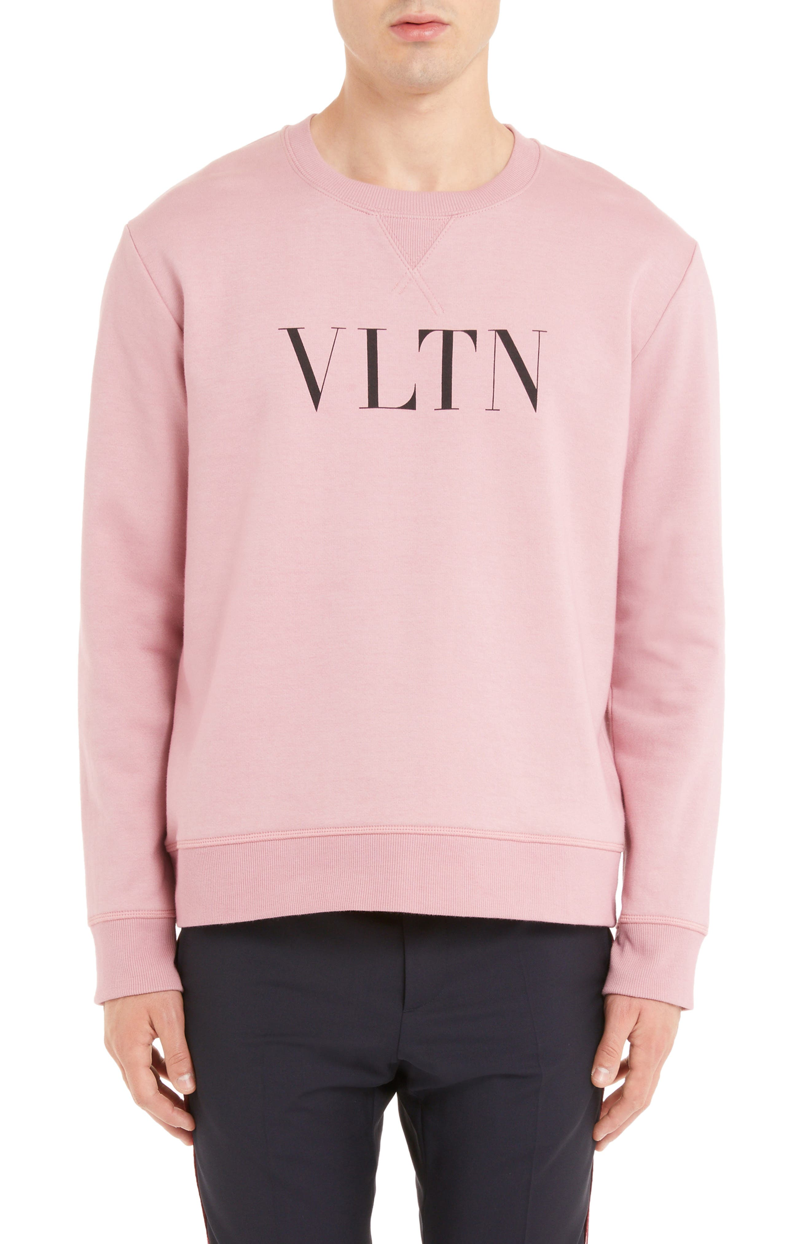 VLTN Logo Sweatshirt,                             Main thumbnail 1, color,                             ROSA
