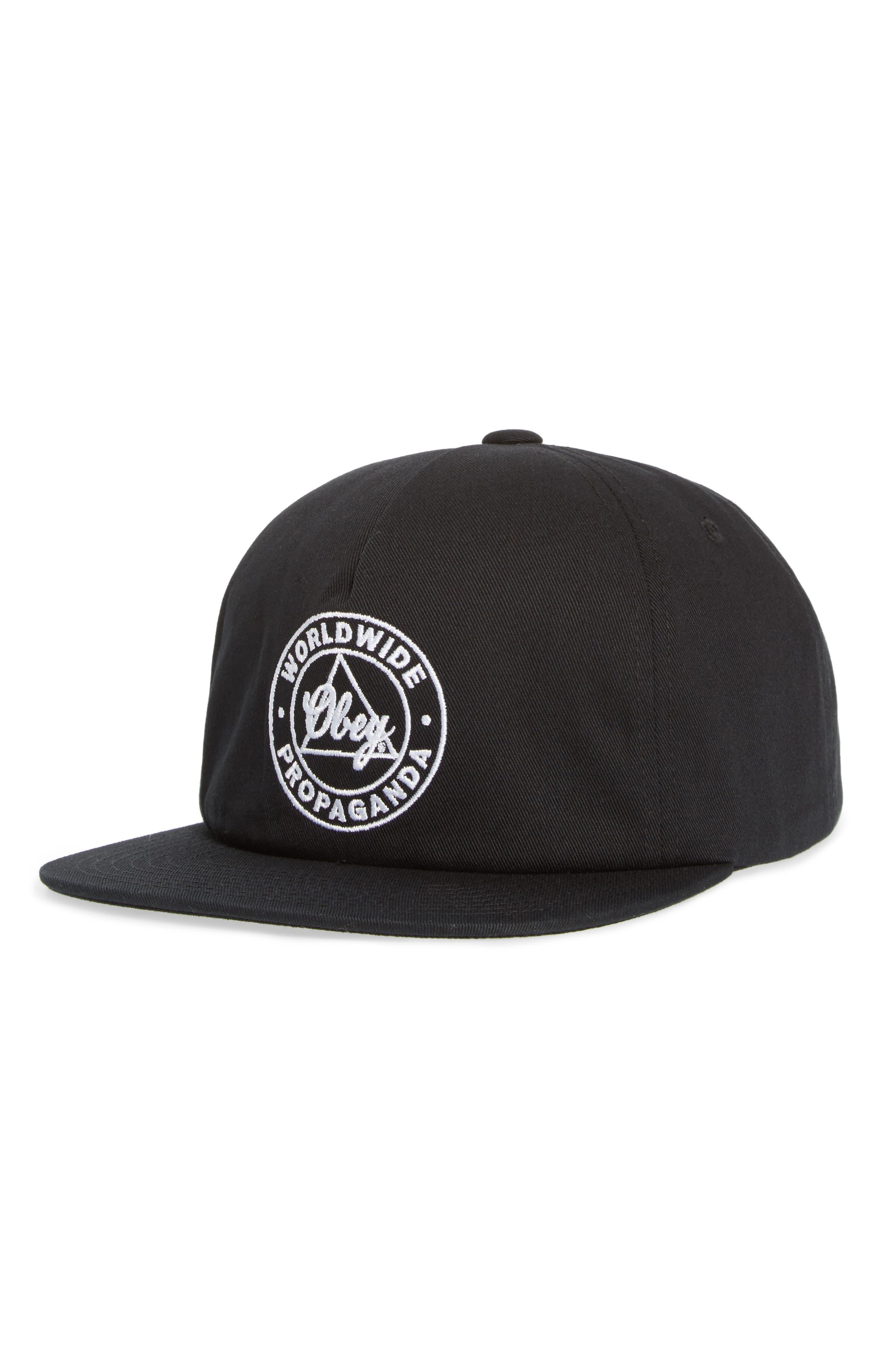 Worldwide Propaganda II Snapback Cap,                         Main,                         color, BLACK
