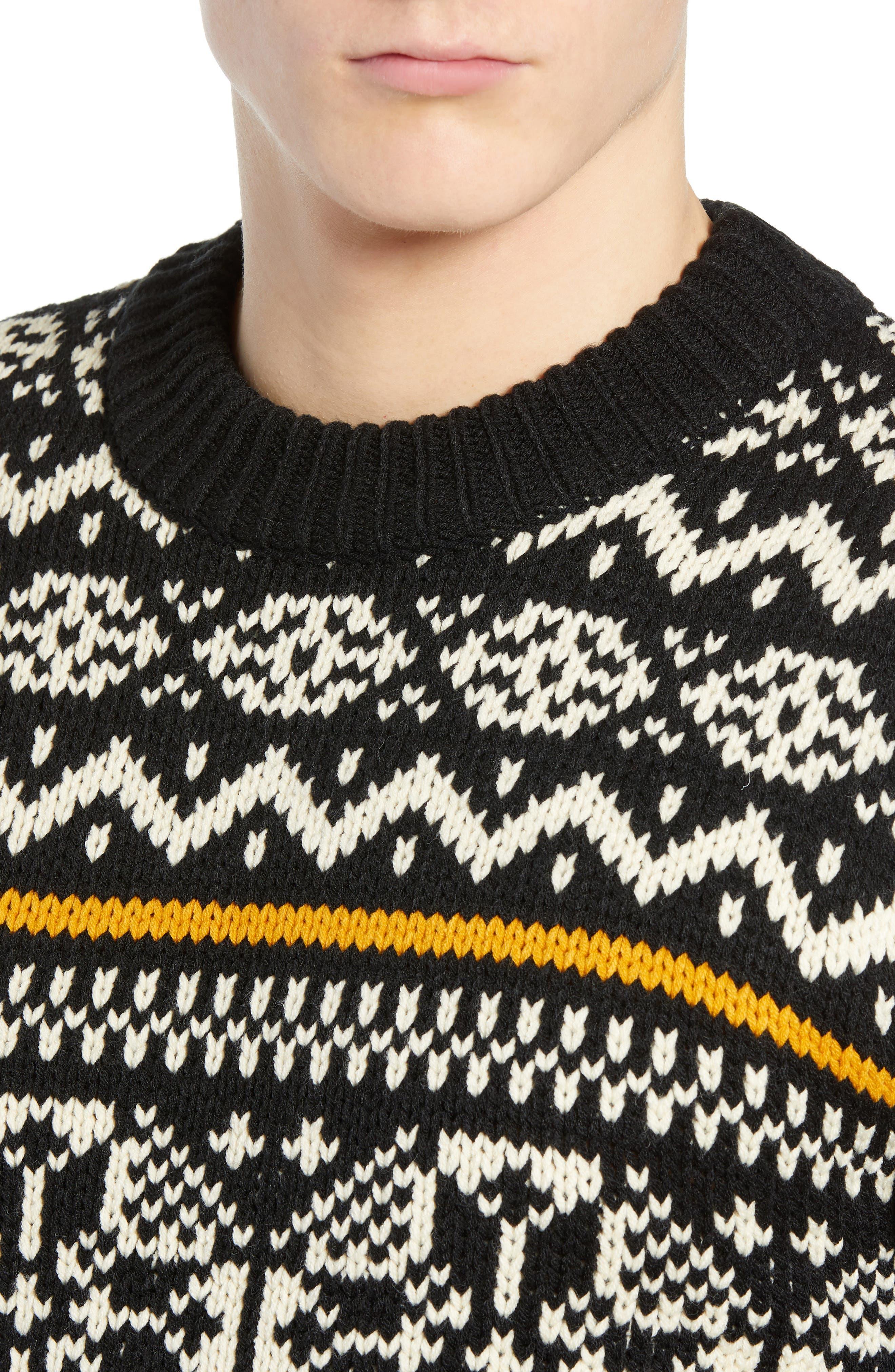 Chunky Fair Isle Sweater,                             Alternate thumbnail 4, color,                             COMBO B